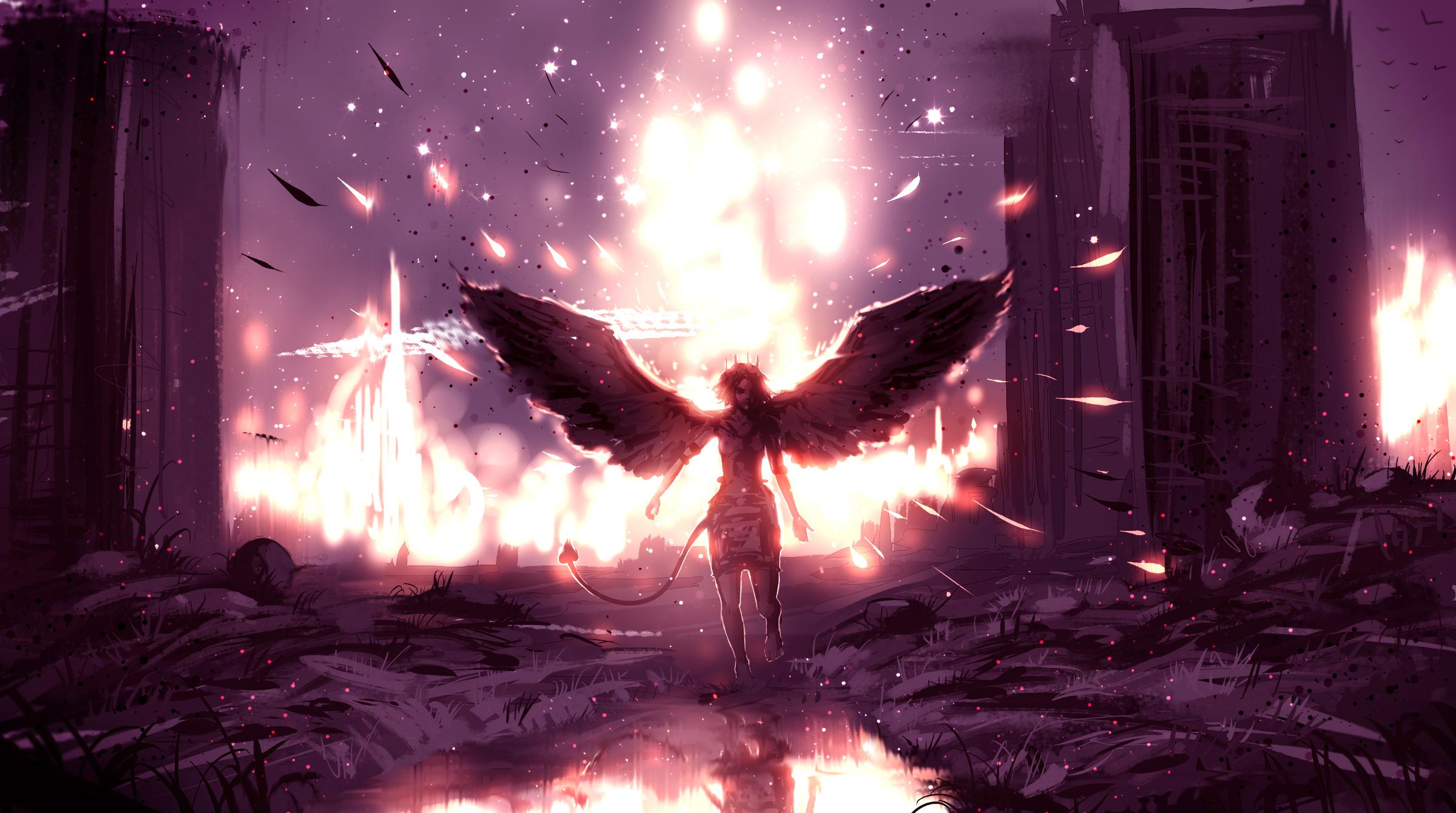 Angel Bird Light Ruin Tail Wings 2399x1340