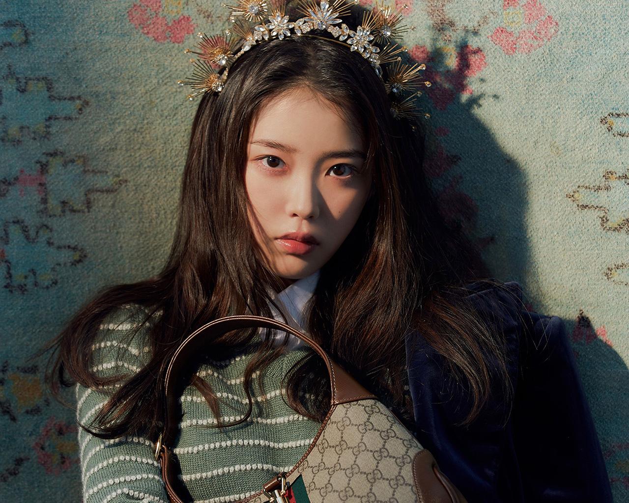 Girl Band Asian Women Korean Brunette Long Hair Hair Ornament Black Eyes 1280x1024