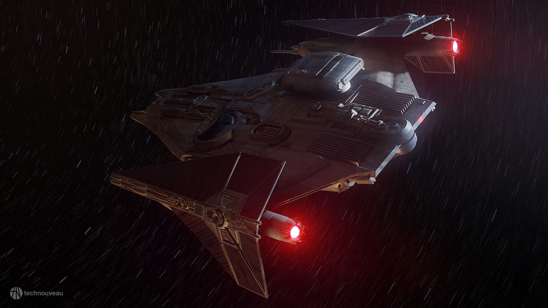 Rasmus Poulsen Tie Cruiser Star Wars Science Fiction Spaceship Vehicle Star Wars Ships 1920x1080