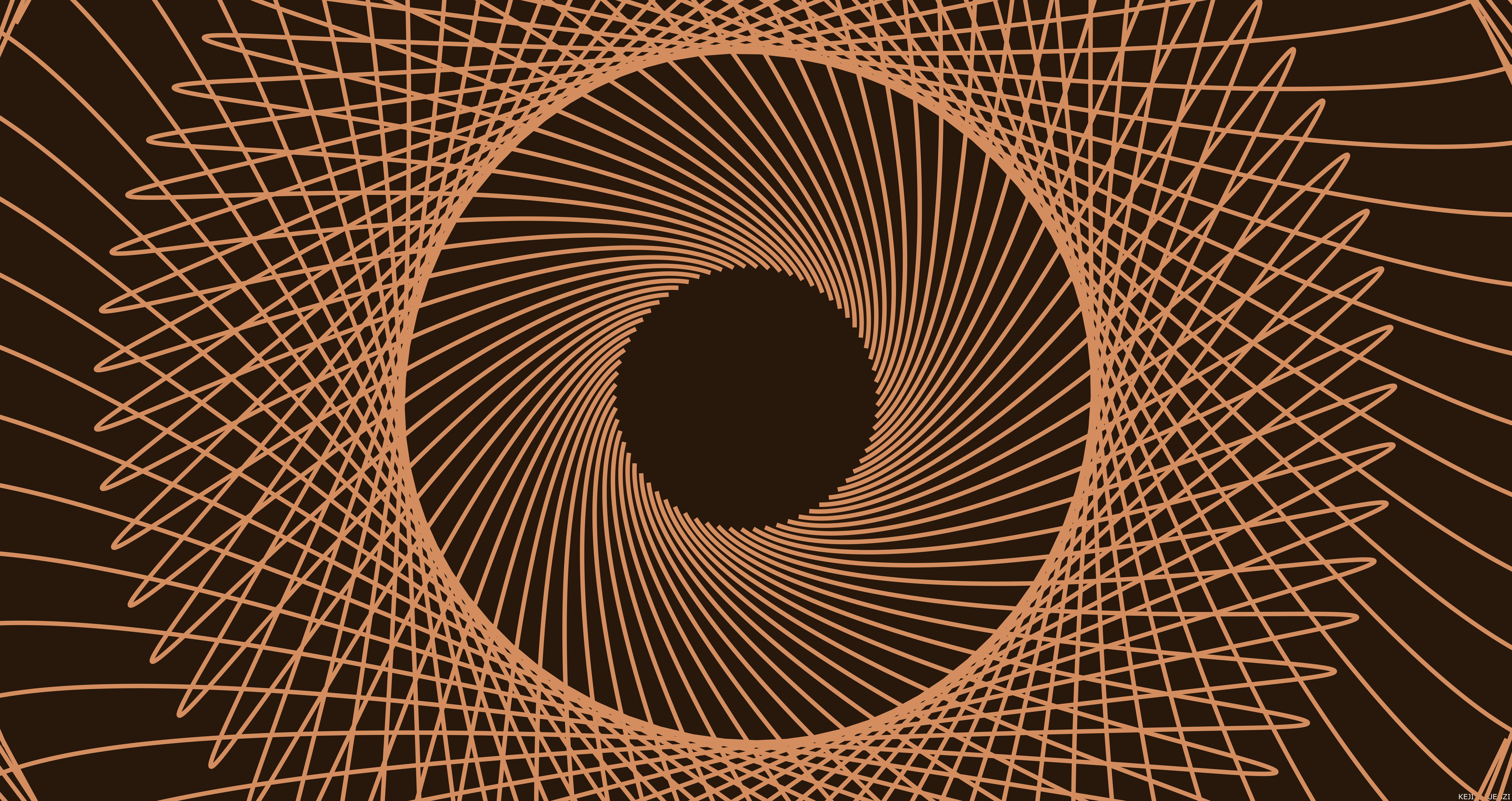 Digital Art Lines Spiral 8500x4500