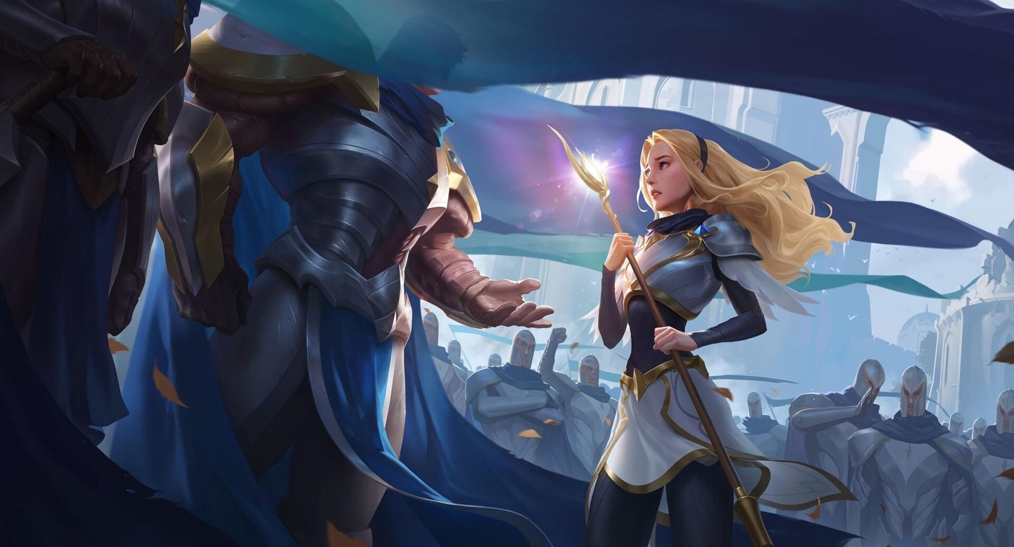 Garen League Of Legends Lux League Of Legends 2000x1080
