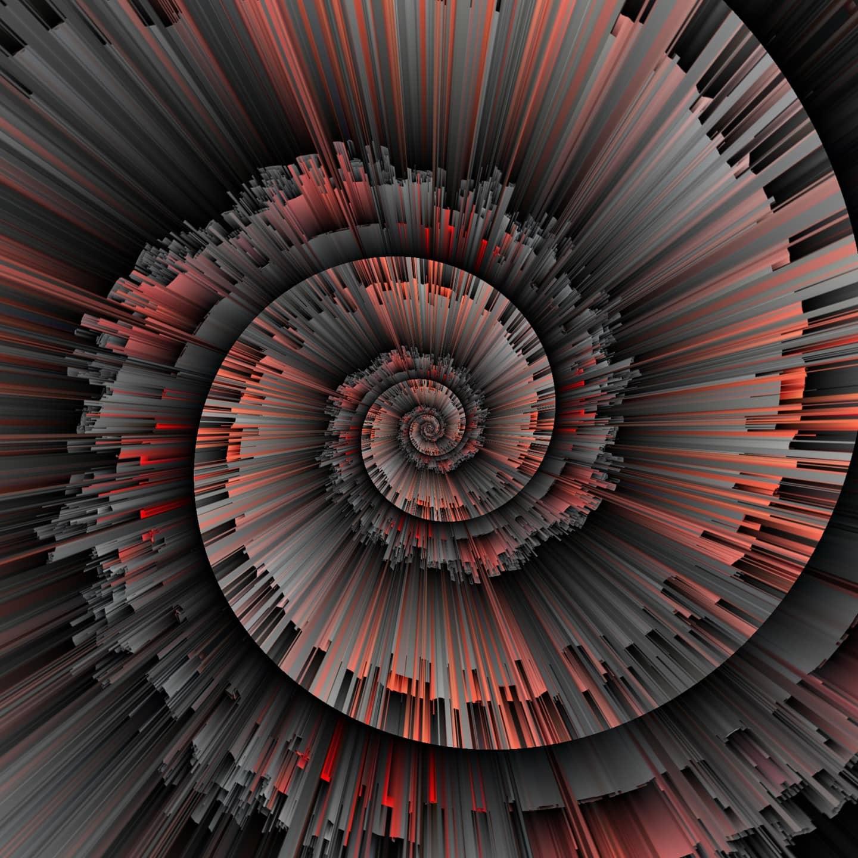 Abstract Spirals Swirls Digital Art Artwork 1440x1440
