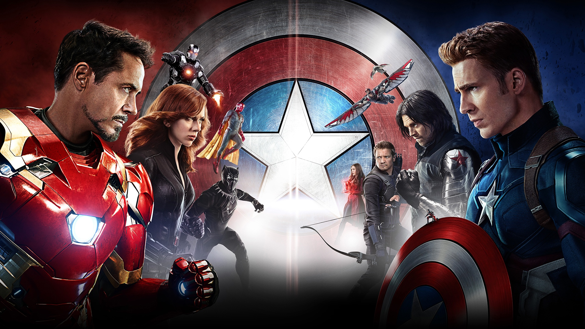 Iron Man Vision Marvel Comics Chris Evans Jeremy Renner Robert Downey Jr Ant Man Scarlet Witch War M 1920x1080