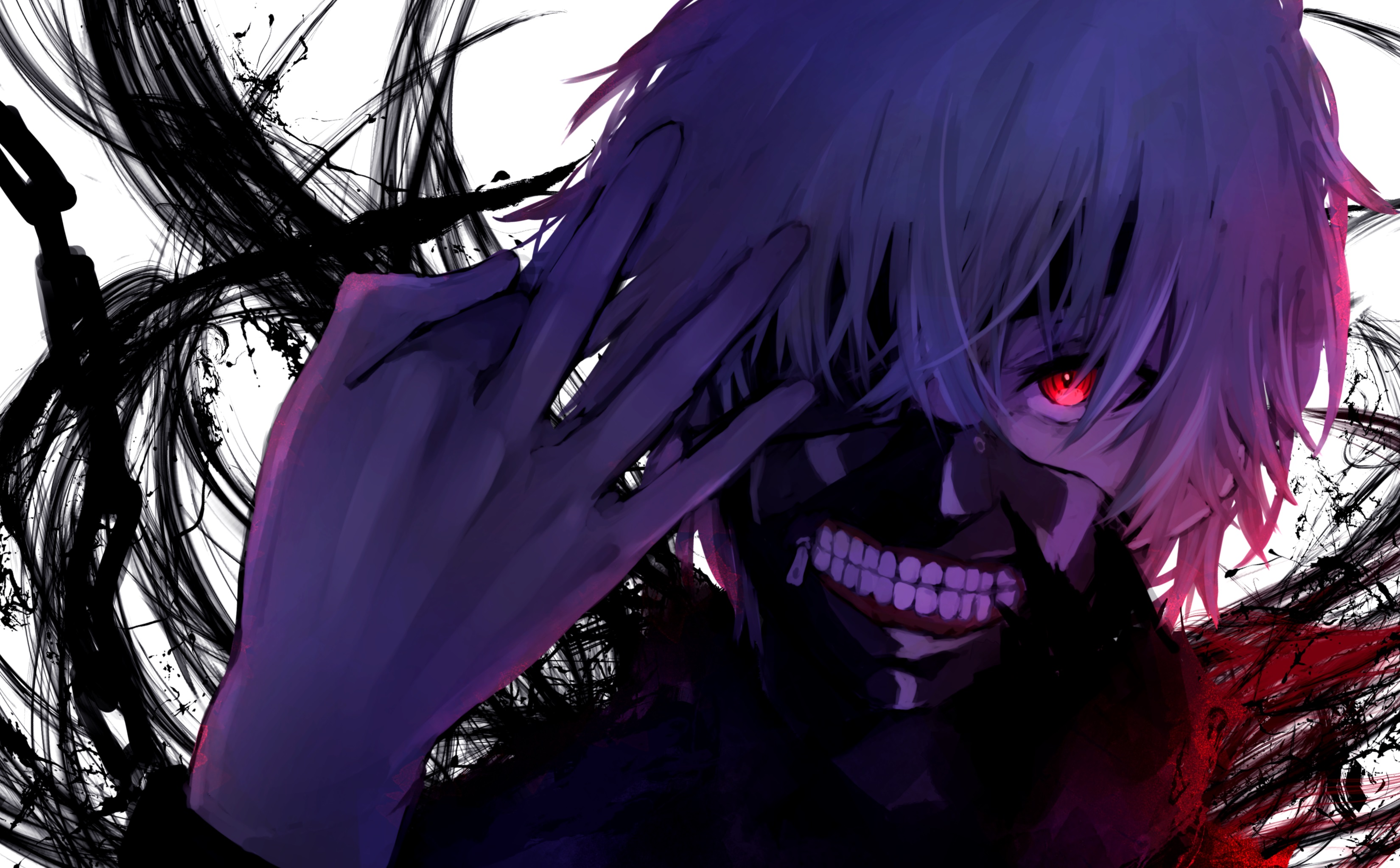 Ken Kaneki Red Eyes 3300x2046