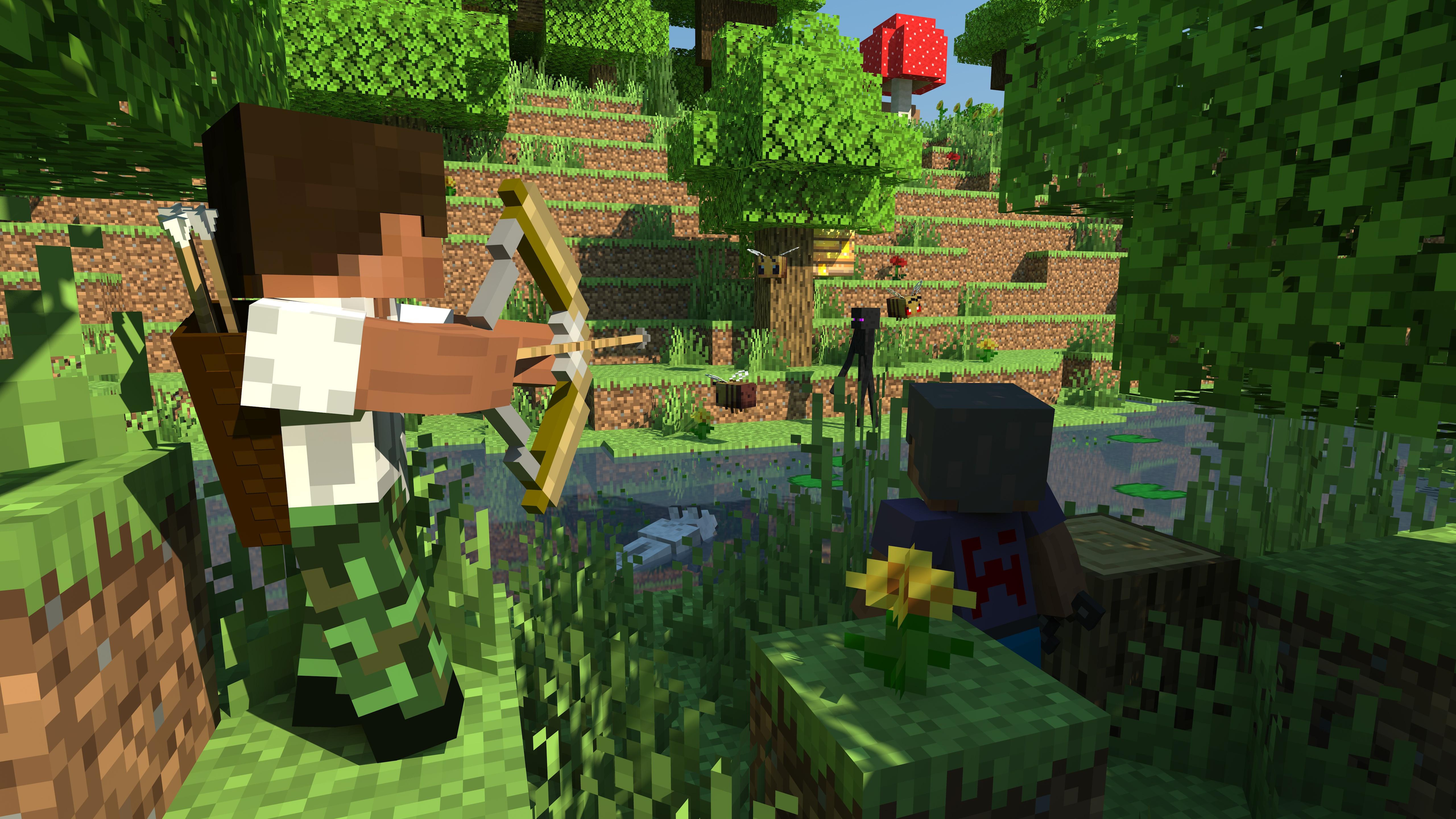 Video Game Minecraft 5120x2880
