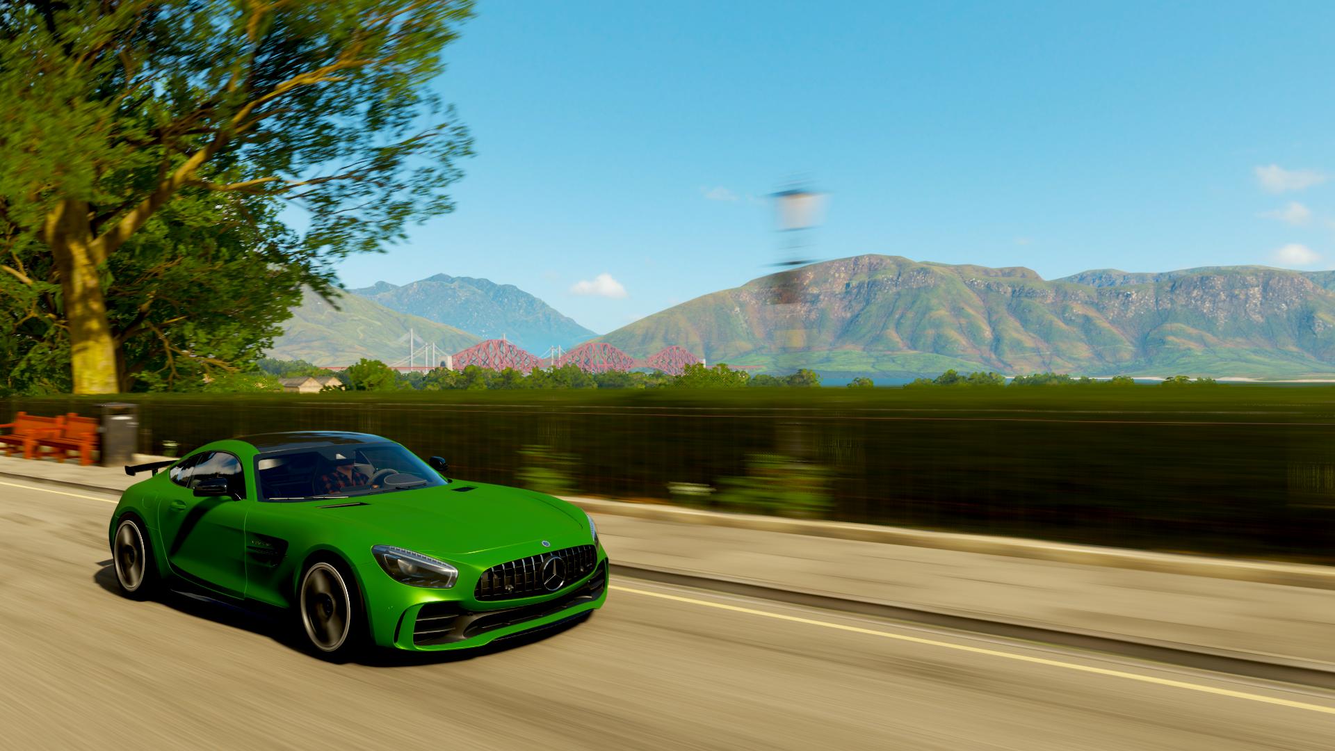Forza Horizon 4 Mercedes AMG GT Mercedes Benz Mercedes Benz Screen Shot Car Vehicle Racing Green Car 1920x1080