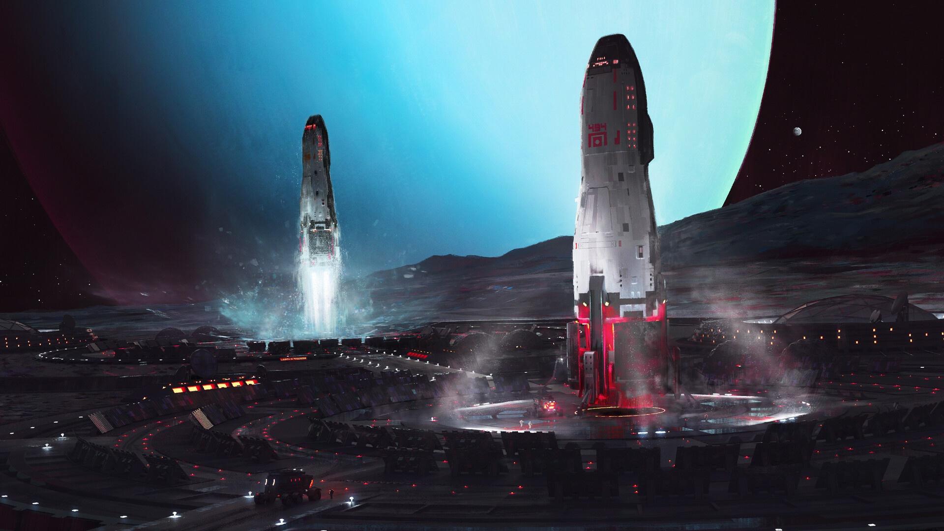 Futuristic Space 1920x1080