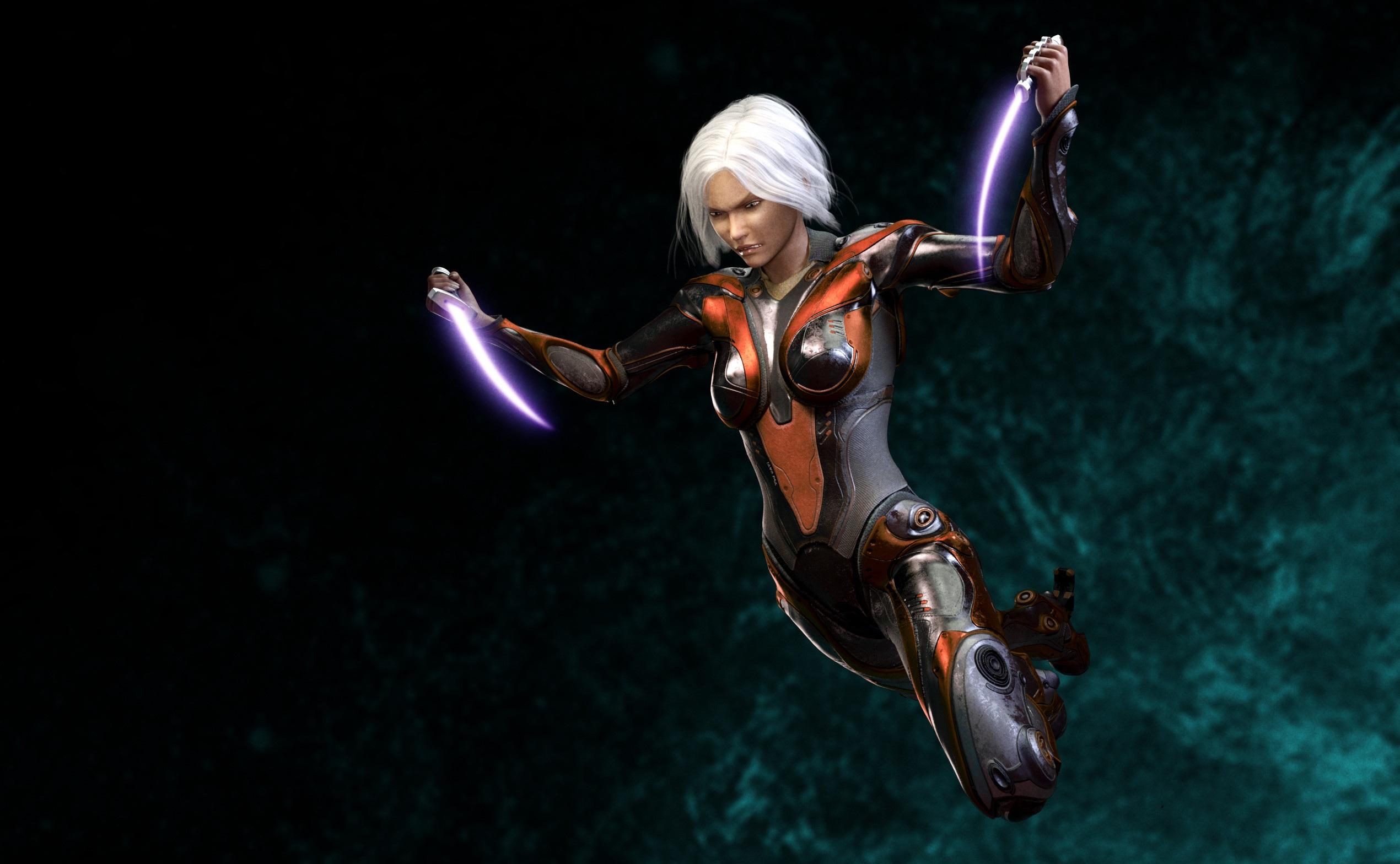 Sci Fi Women Warrior 2540x1568
