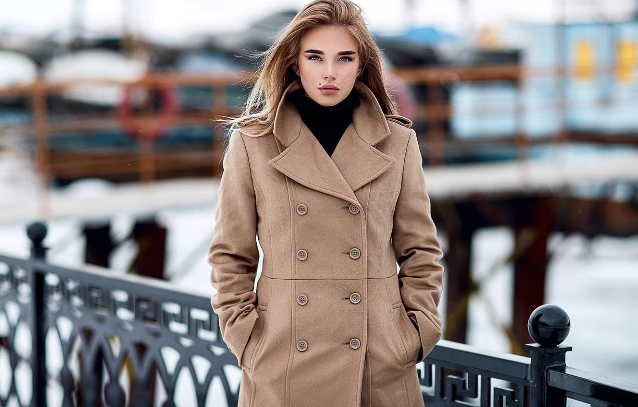 Blonde Model Women Luba Ivanova Sergey Sorokin Coats Hands In Pockets Long Hair Classy Balcony Raili 1280x816