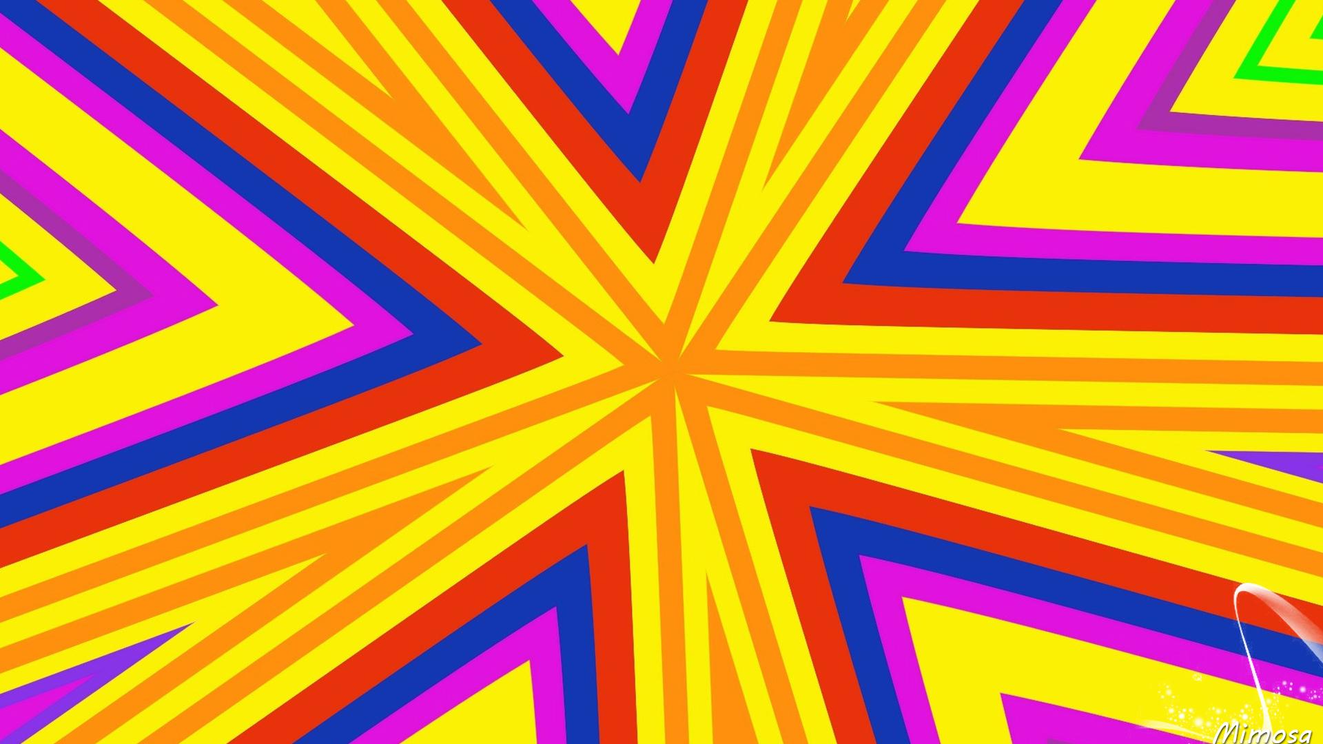 Artistic Digital Art Colors Pattern Yellow Orange Color 1920x1080