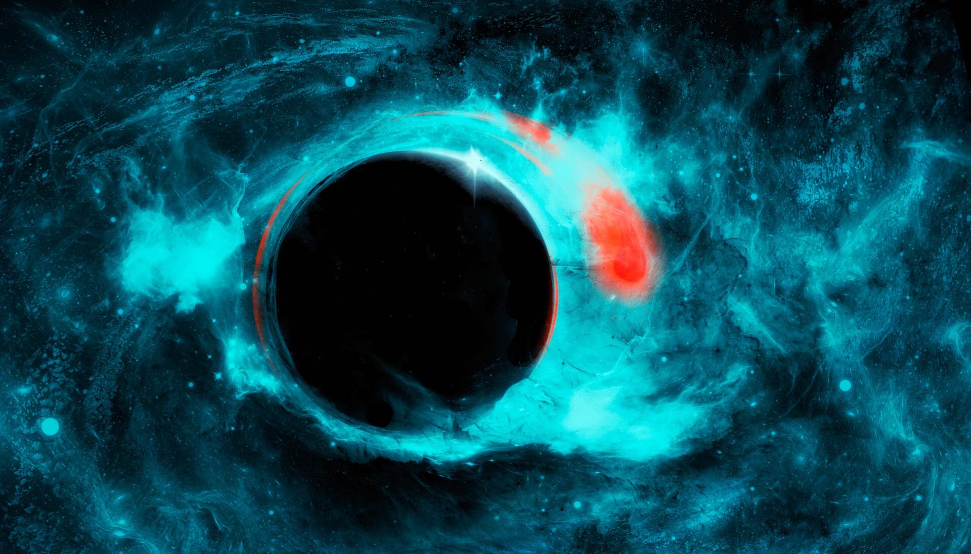 Artwork Fantasy Art Black Holes Space 1920x1097