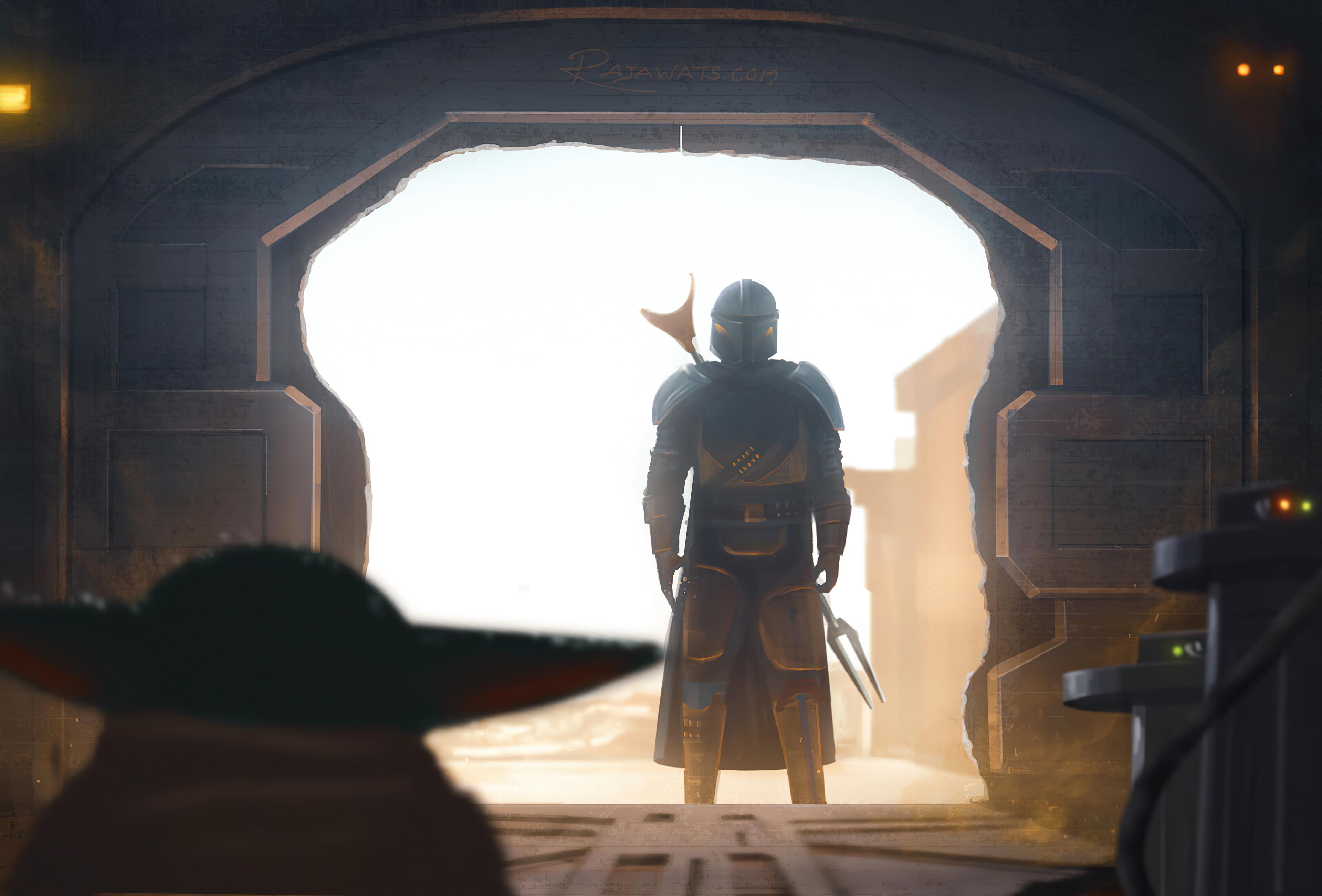 Baby Yoda Star Wars The Mandalorian Character 3840x2604