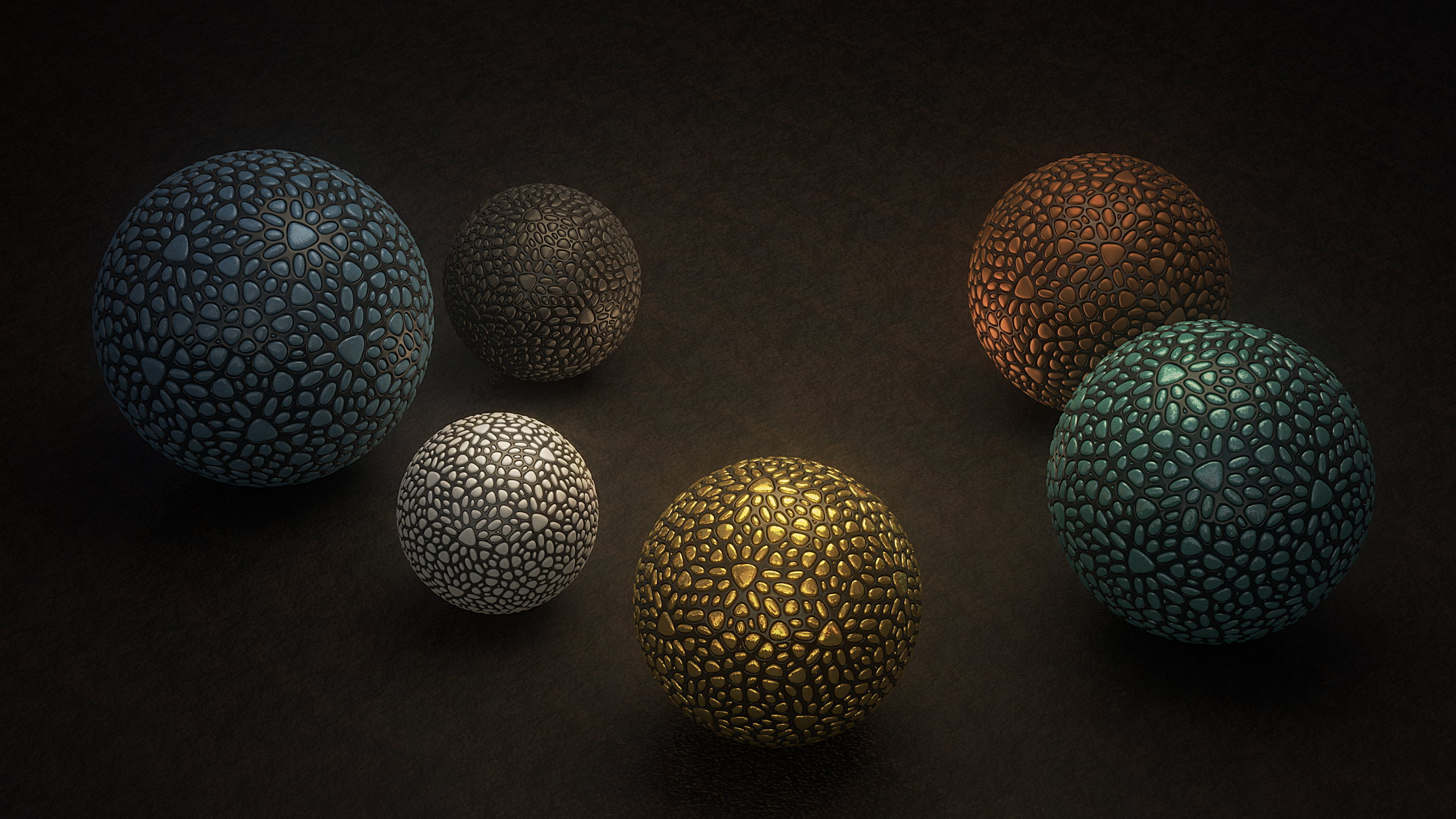 Abstract Ball 2560x1440