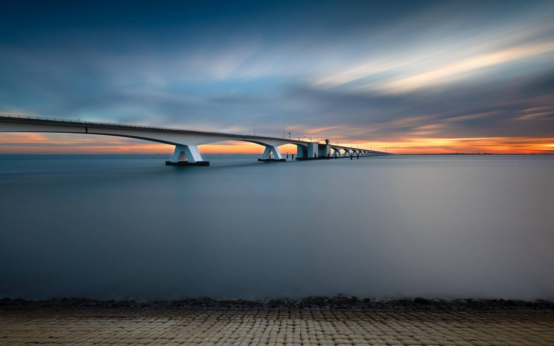 Netherlands Zeeland Bridge 1920x1200