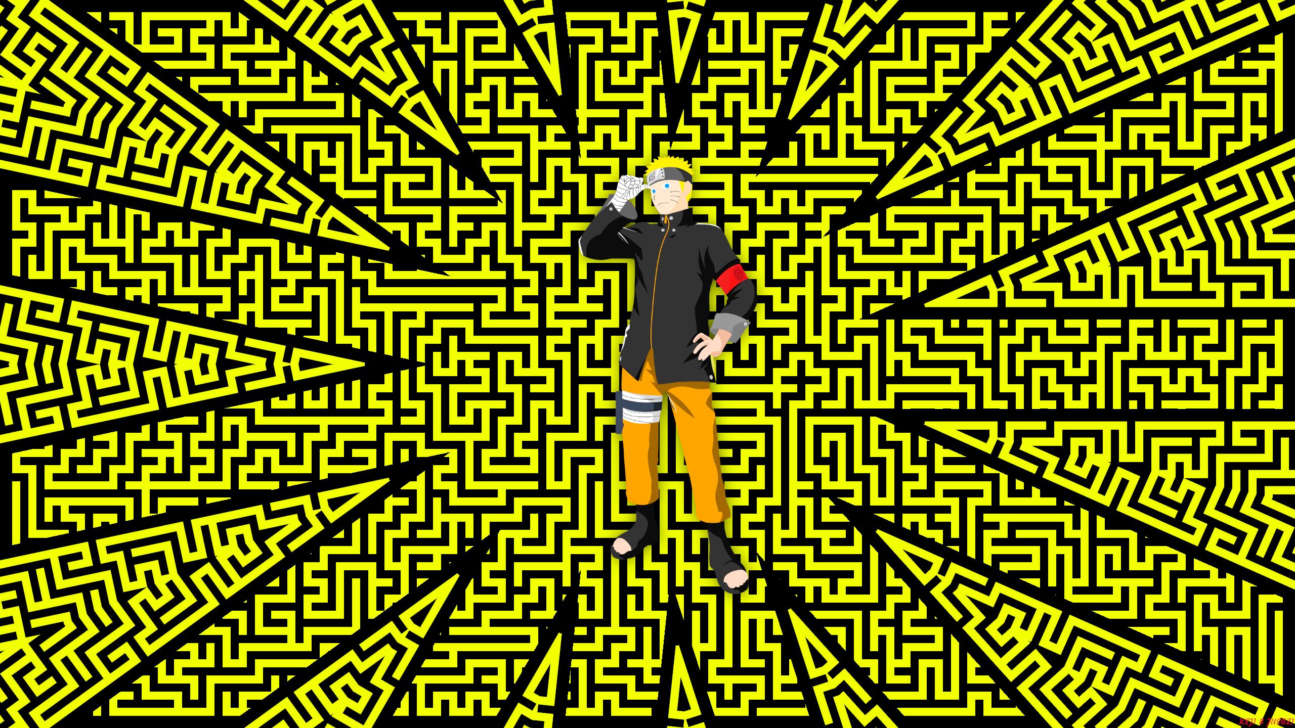 Pattern Digital Art Naruto Naruto Uzumaki Boruto Anime Yellow 2560x1440