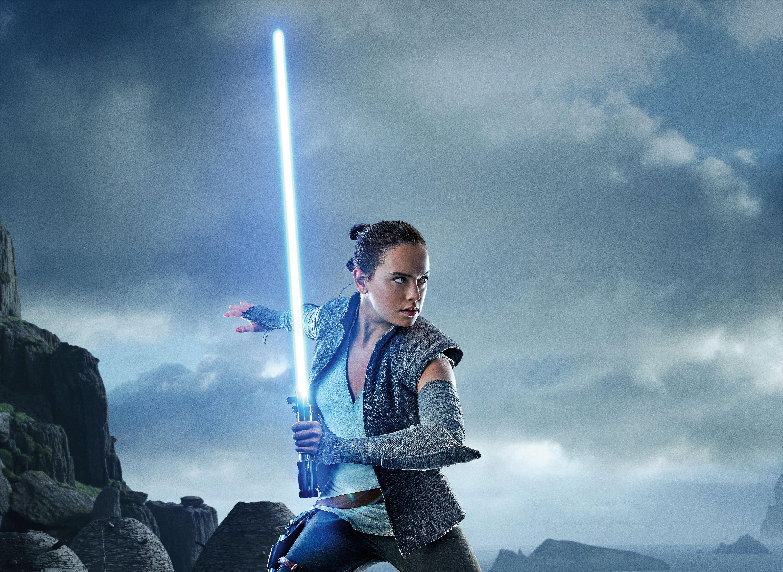 Star Wars Lightsaber Rey Star Wars Daisy Ridley Jedi 6000x4380