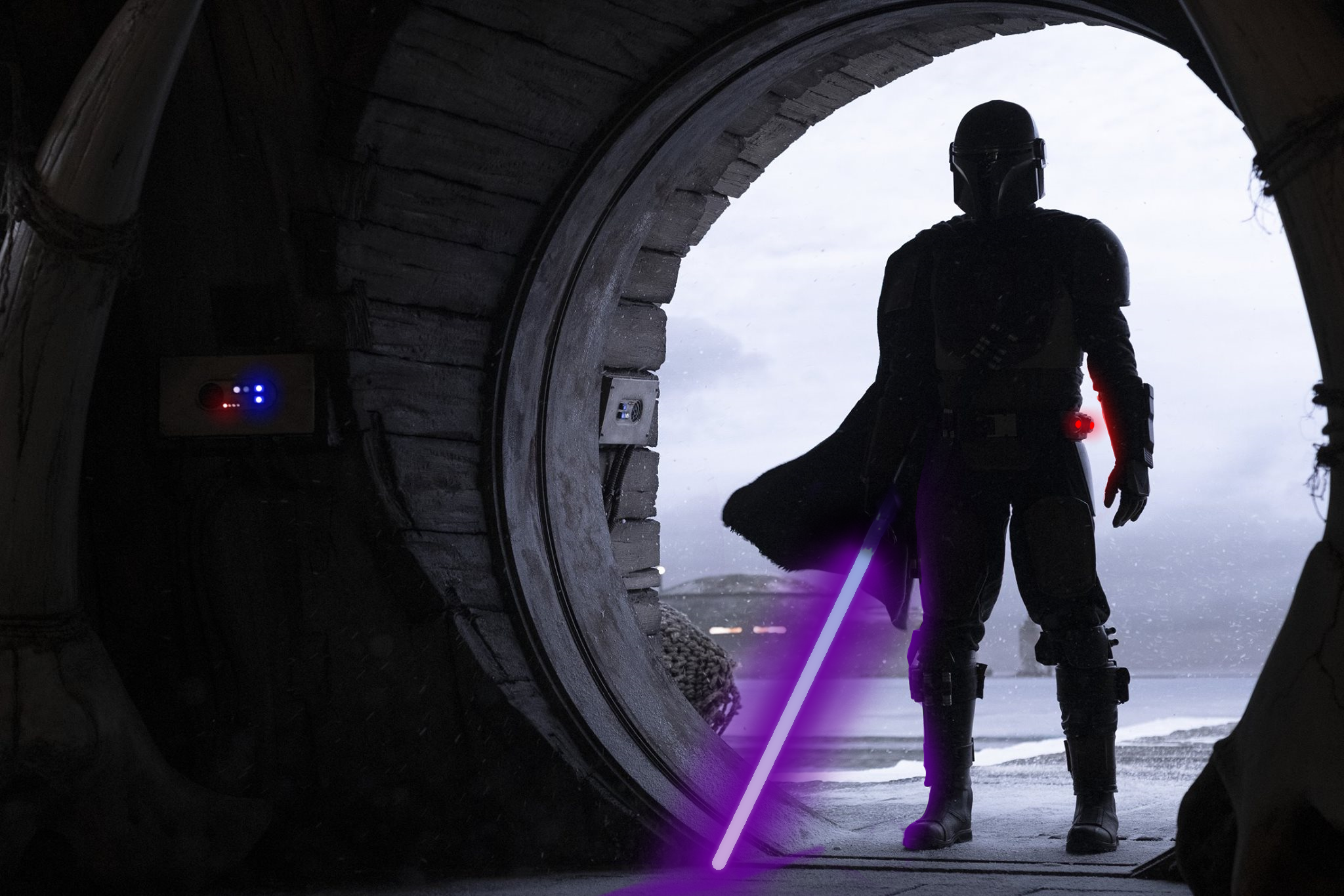 The Mandalorian Star Wars Mandalorians Neon Neon Photo Snow PQnos 2048x1365