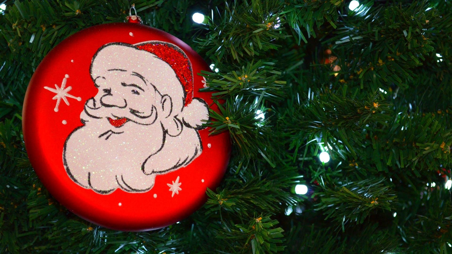 Christmas Christmas Lights Christmas Ornaments Christmas Tree Light Santa 1920x1080