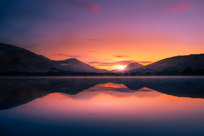 Nature Landscape Sunset Scotland 6000x4000