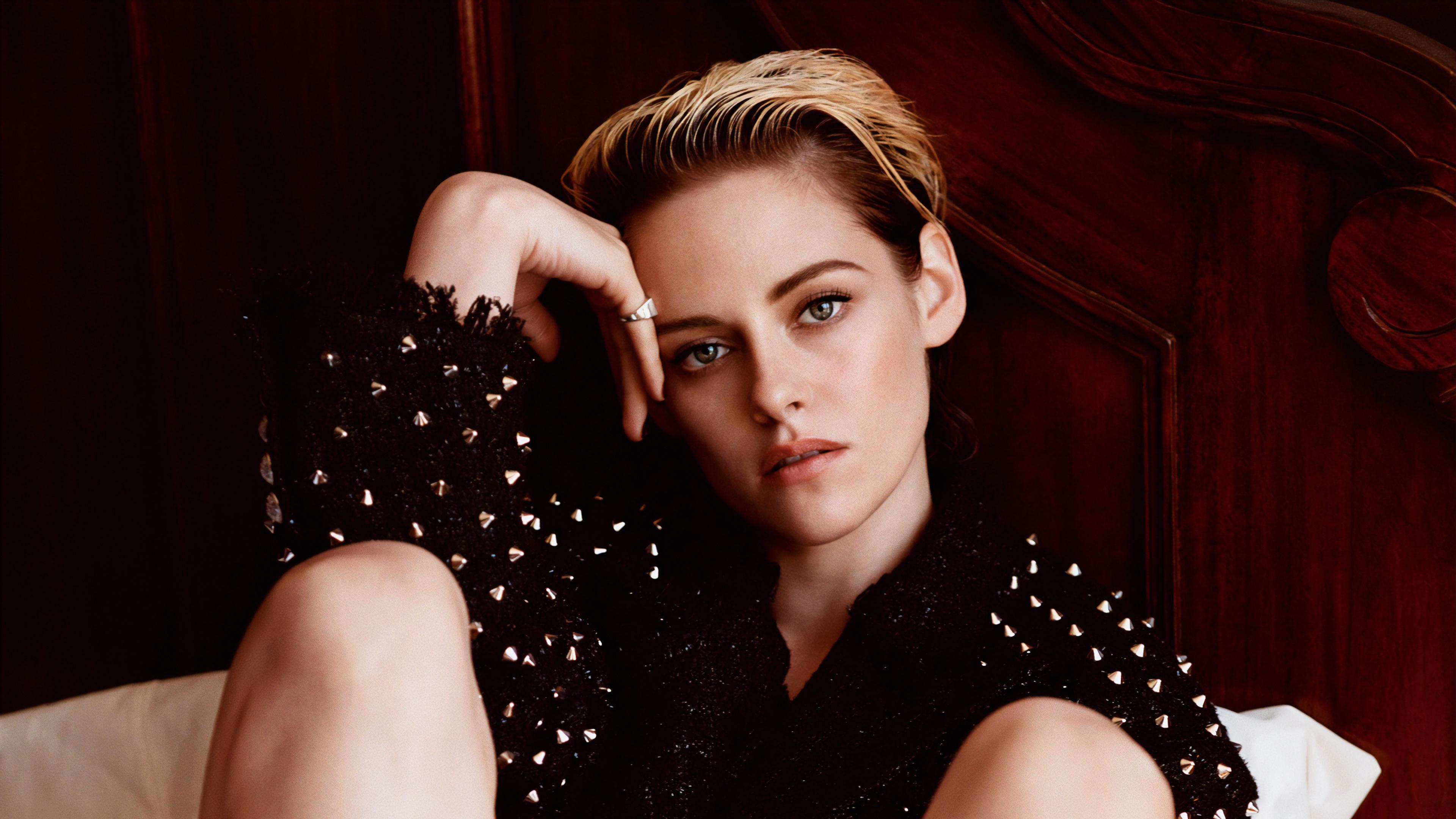 American Actress Blonde Short Hair Green Eyes 3840x2160