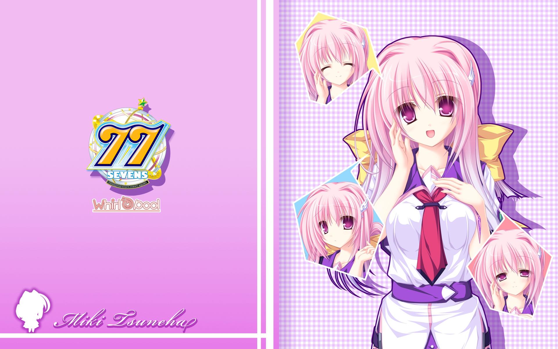 Sevens And Two Stars Meet Again Isuneha Miki Anime Anime Girls Multi Colored Hair Pink Hair Purple T 1920x1200
