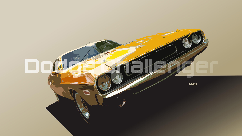 Dodge Car Yellow Car Vintage Artistic Digital Art 3000x1688
