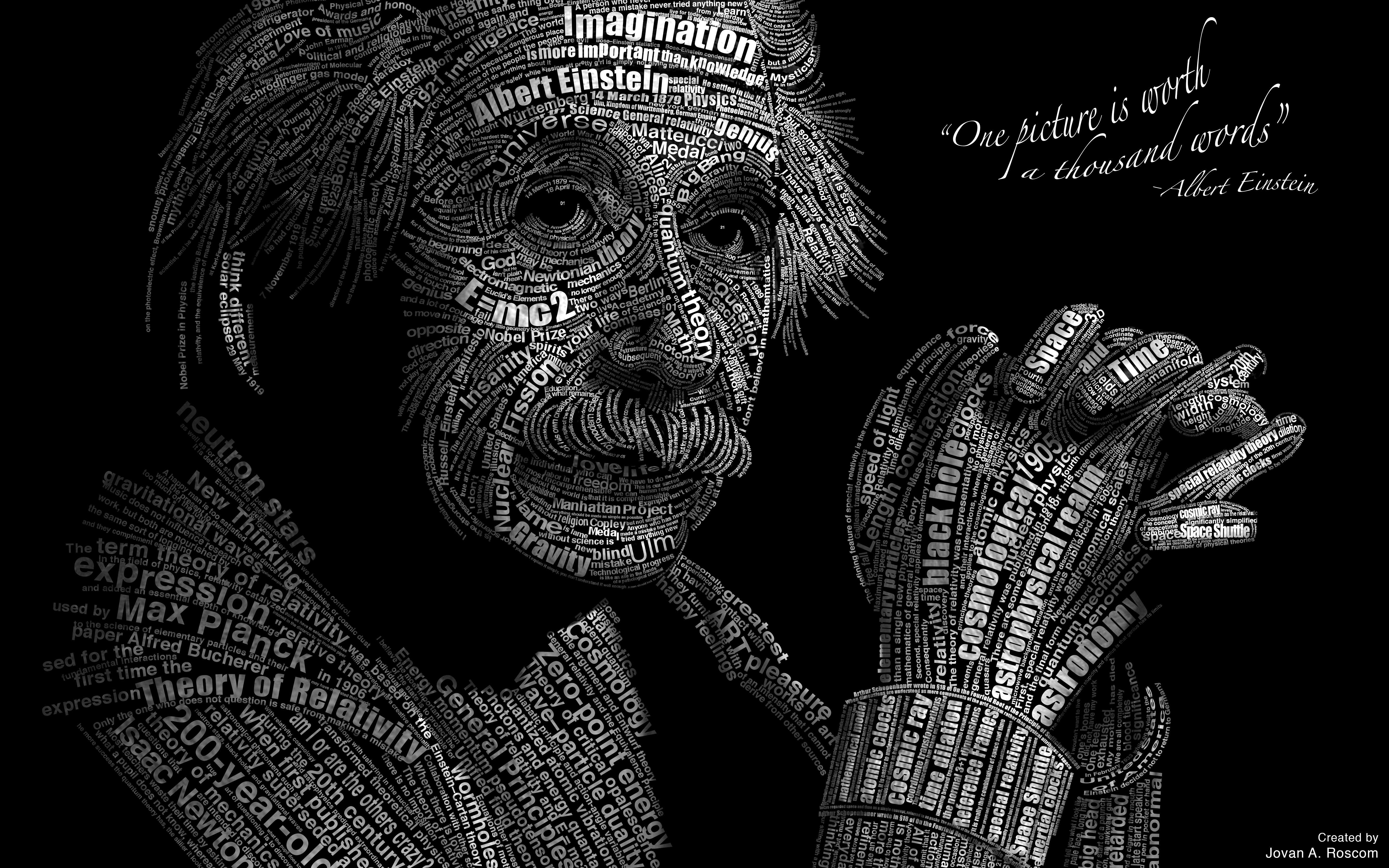 Albert Einstein Text Typography 5333x3333