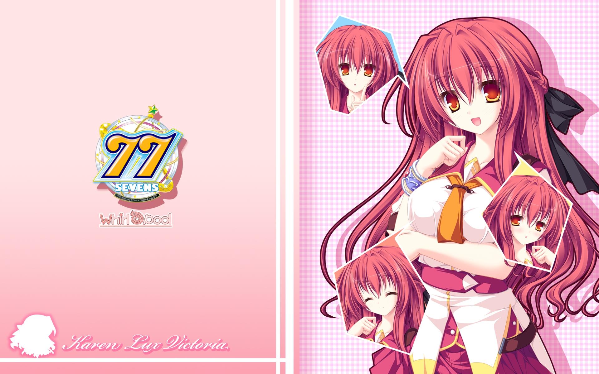 Sevens And Two Stars Meet Again Karen Lux Victoria Anime Series Anime Girls Redhead Long Hair Bangs  1920x1200