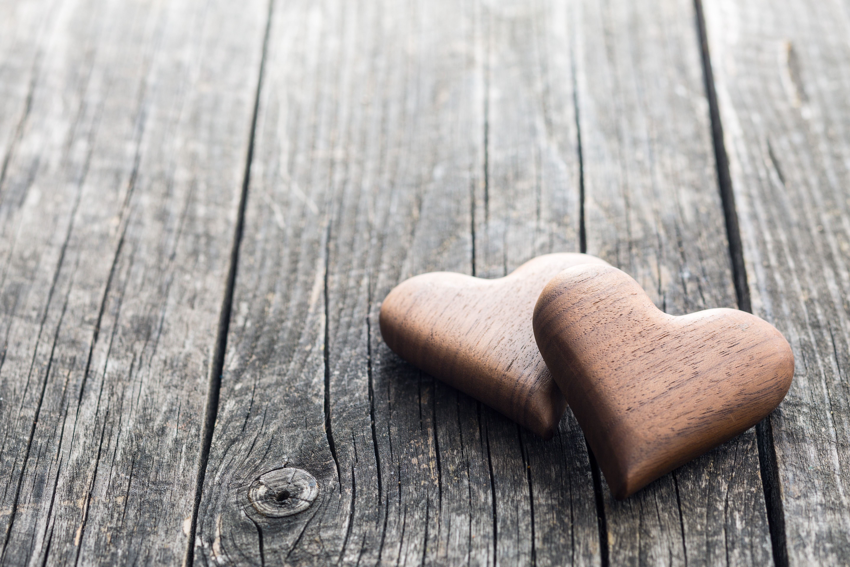 Heart Love Wood 5760x3840
