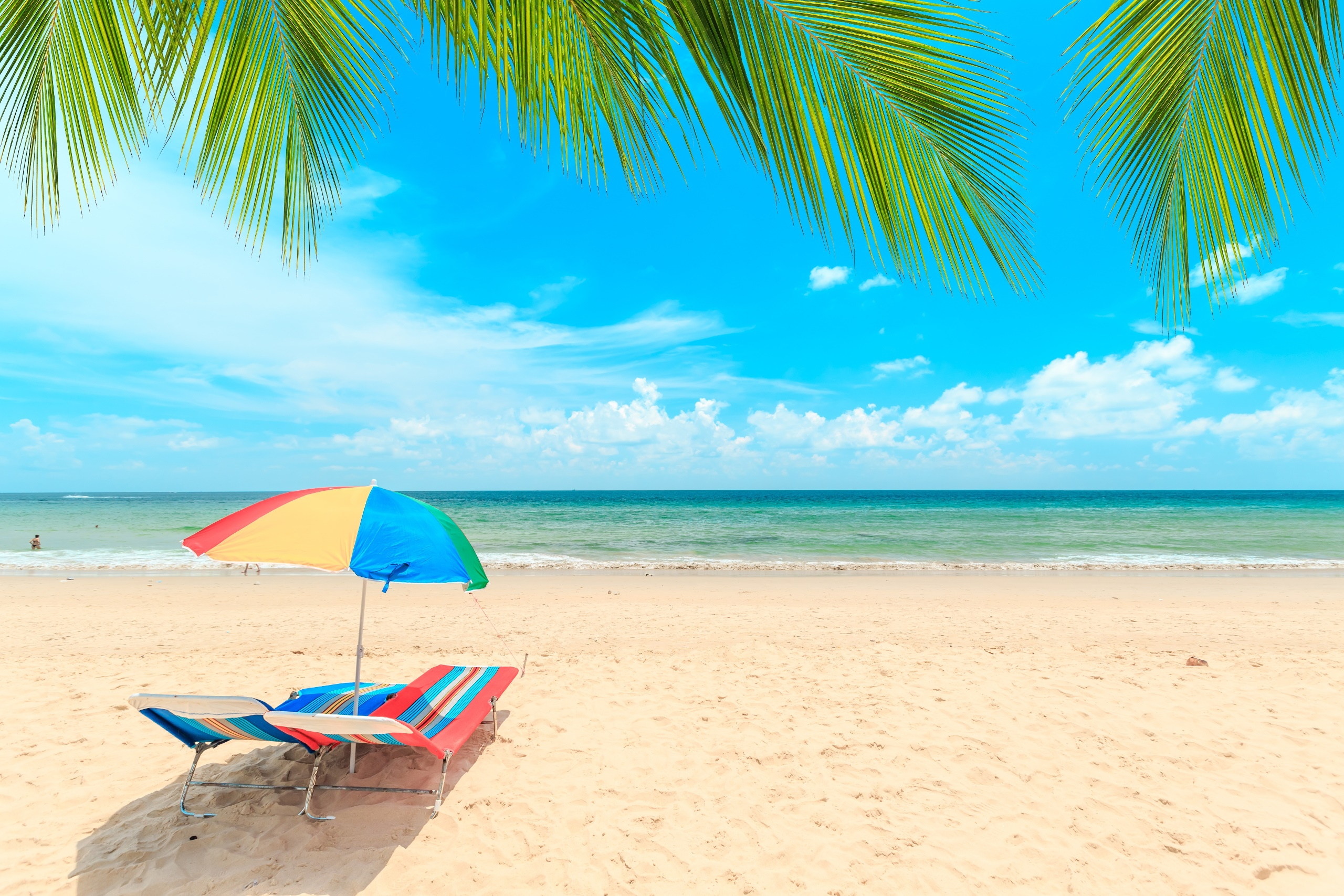Beach Outdoors Sky Horizon 2560x1707