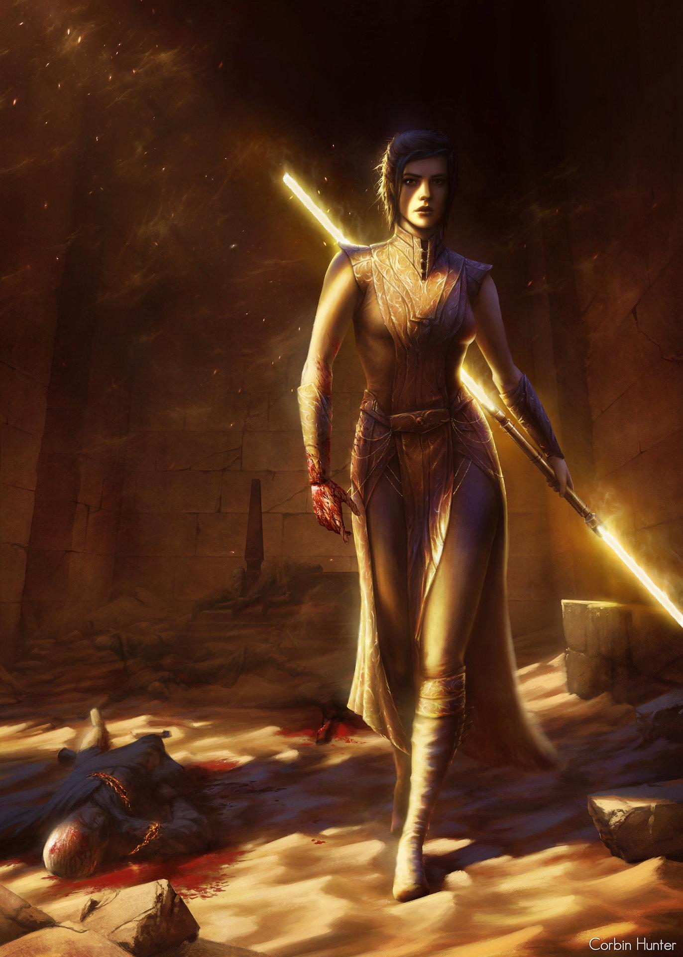 Fantasy Art Artwork Star Wars Bastila Shan Knights Of The Old Republic Star Wars Knights Of The Old  1372x1920