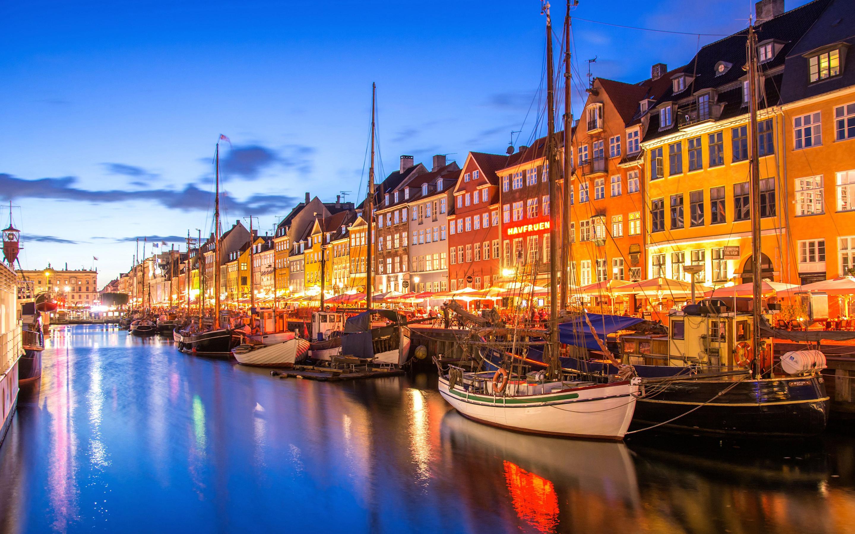 Boat City Copenhagen Denmark River 2880x1800