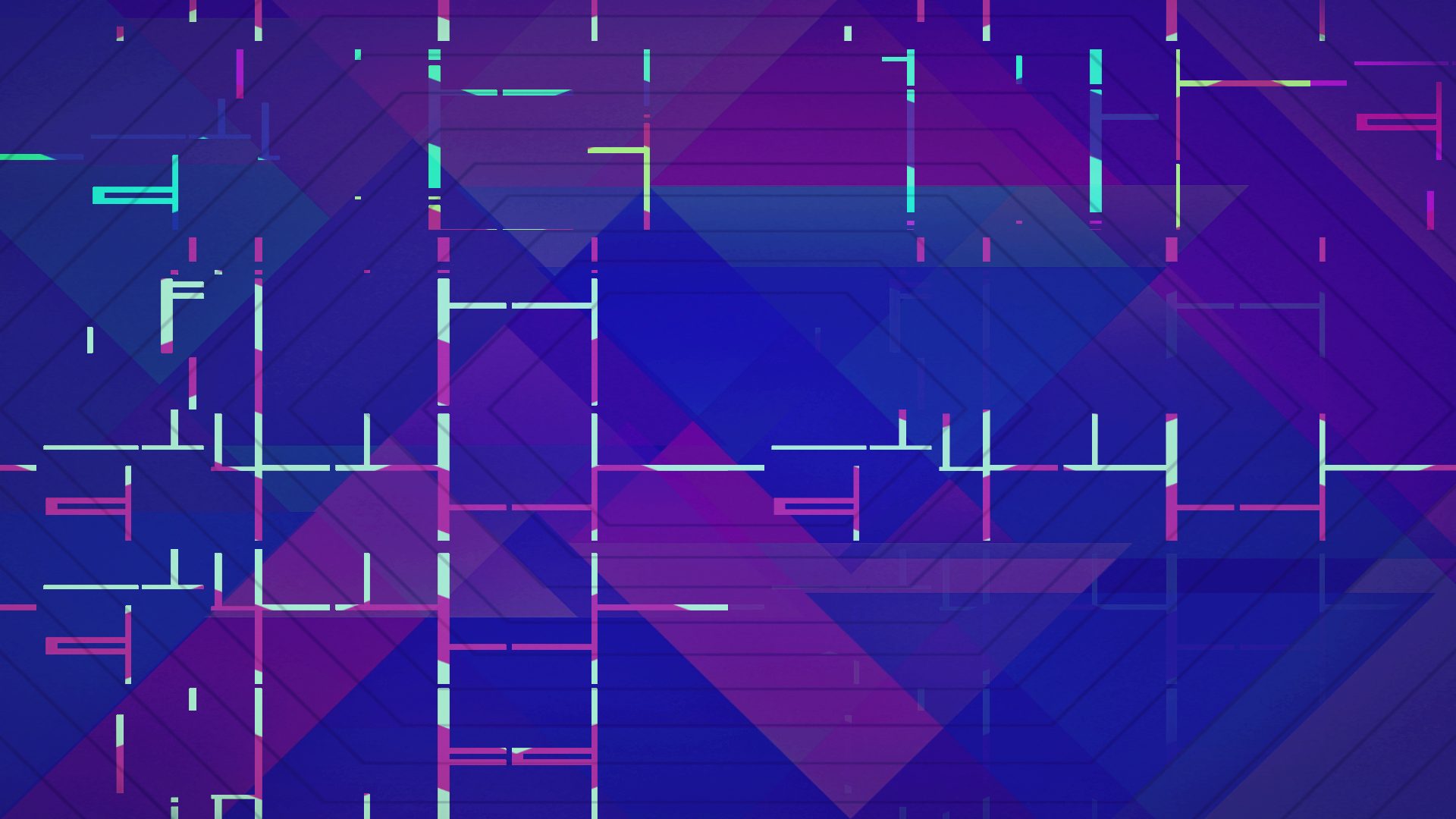 Digital Art Geometry Lines 1920x1080