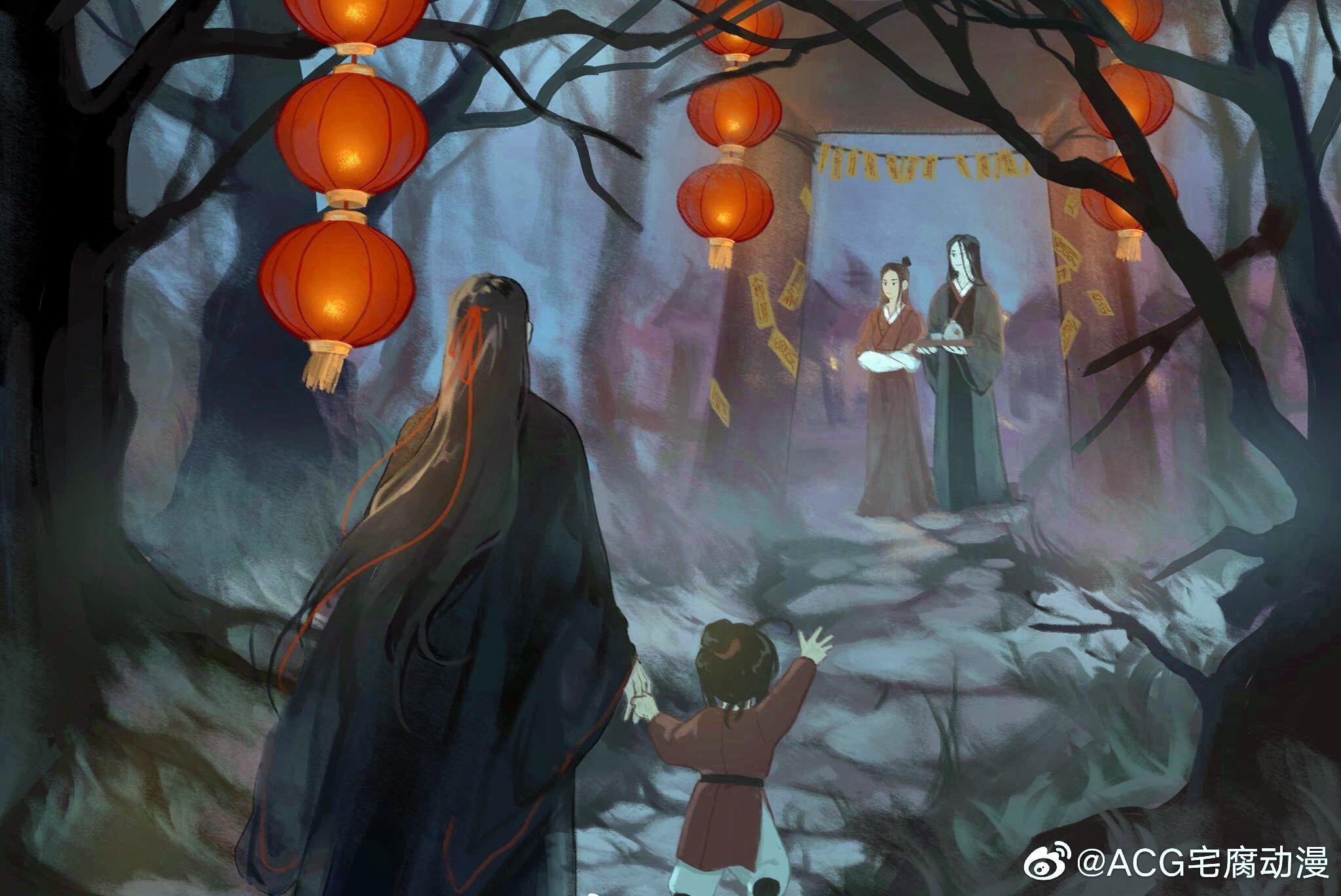 Wen Ning Wen Qing Wei Ying Wei Wuxian Lan Sizhui 2048x1369