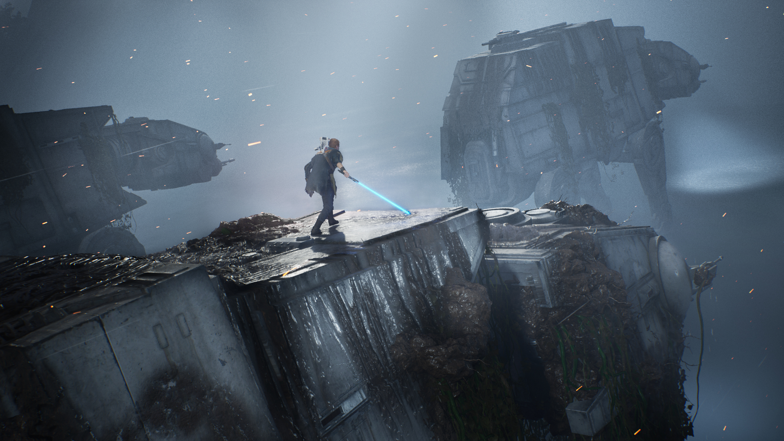 At At Walker Cal Kestis Lightsaber Star Wars Star Wars Jedi Fallen Order 2560x1440
