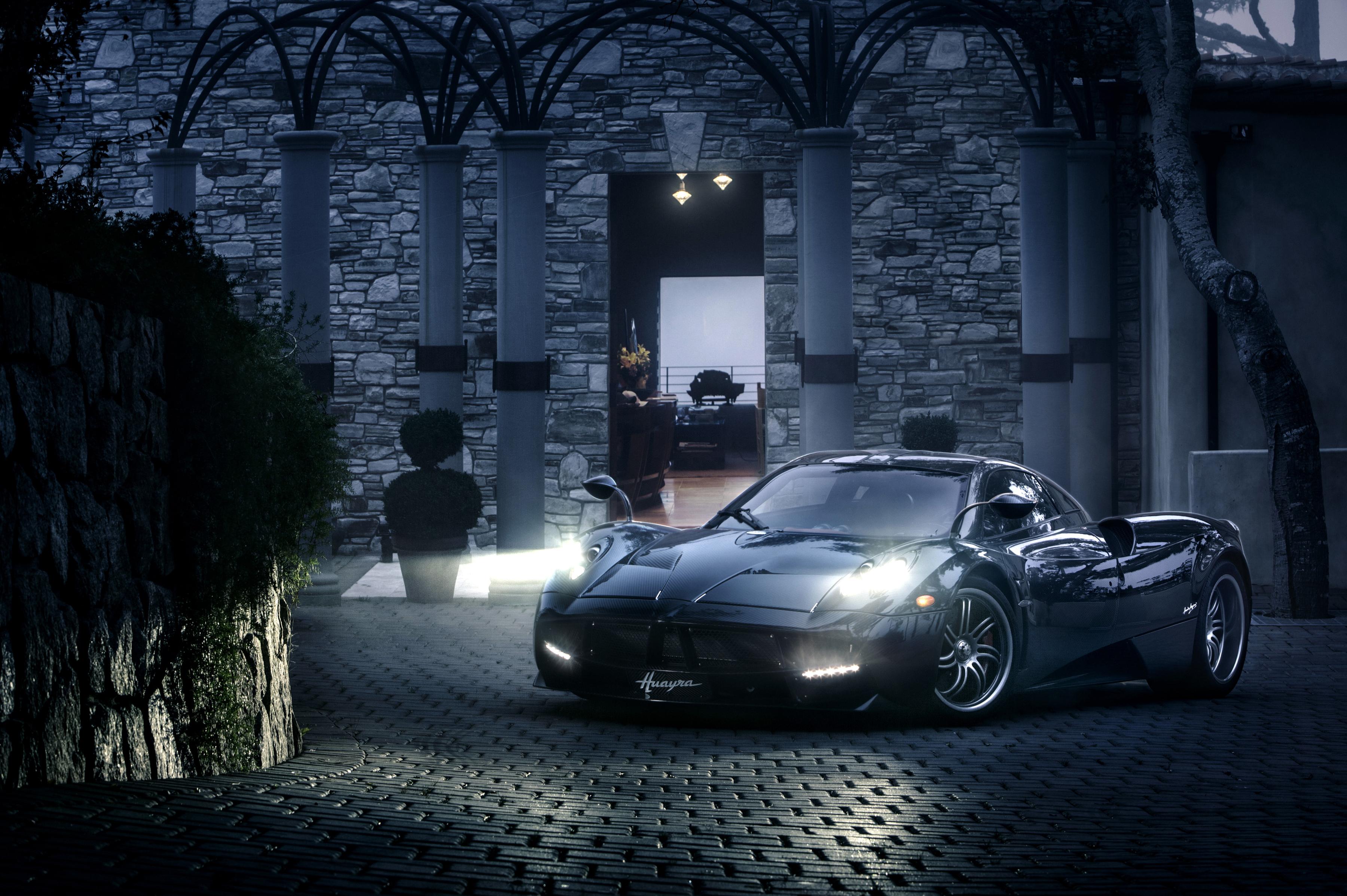 Pagani Car Sport Car Supercar Black Car Night 3600x2395