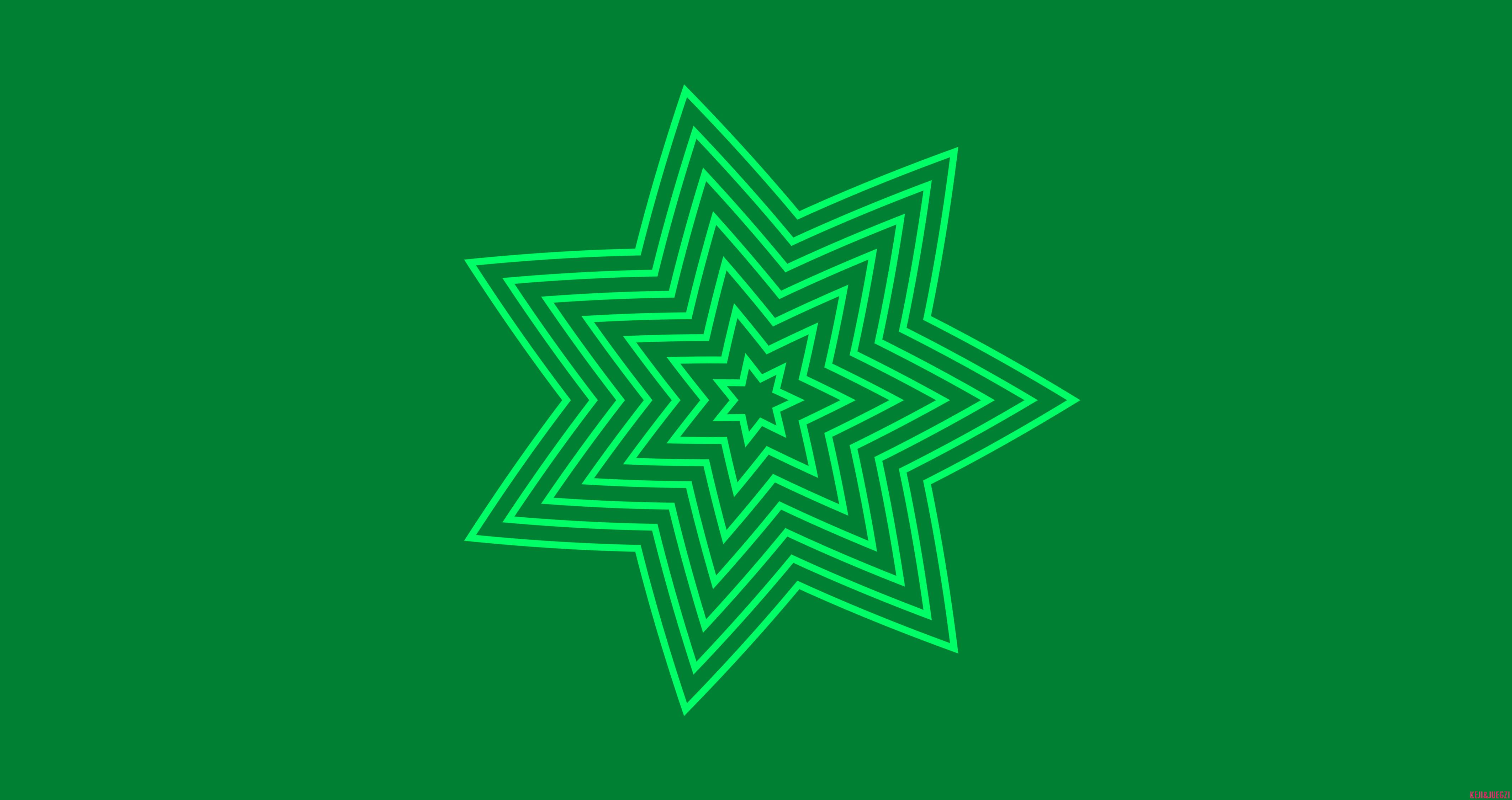 Kaleidoscope Digital Art Pattern Artistic Green 4250x2250