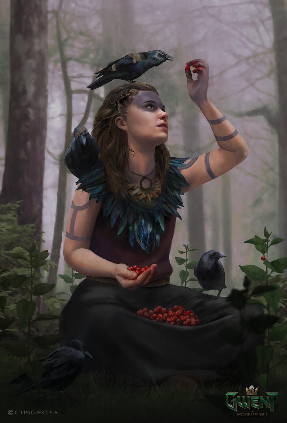 Aleksandra Wojtas Berries Red Berries Drawing Portrait Display Brunette Shoulder Length Hair Raven C 994x1464