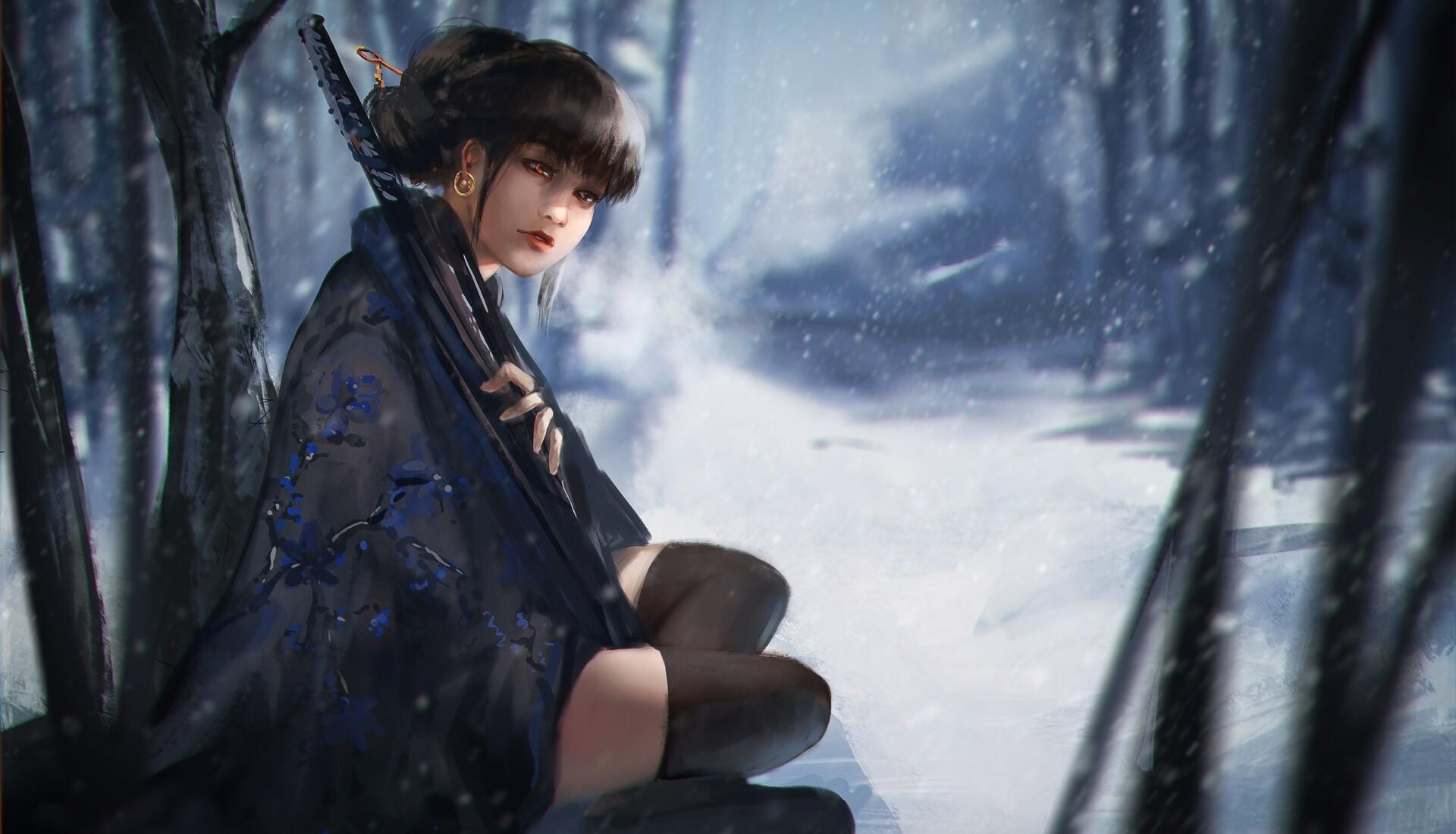 Girl Winter 1920x1100