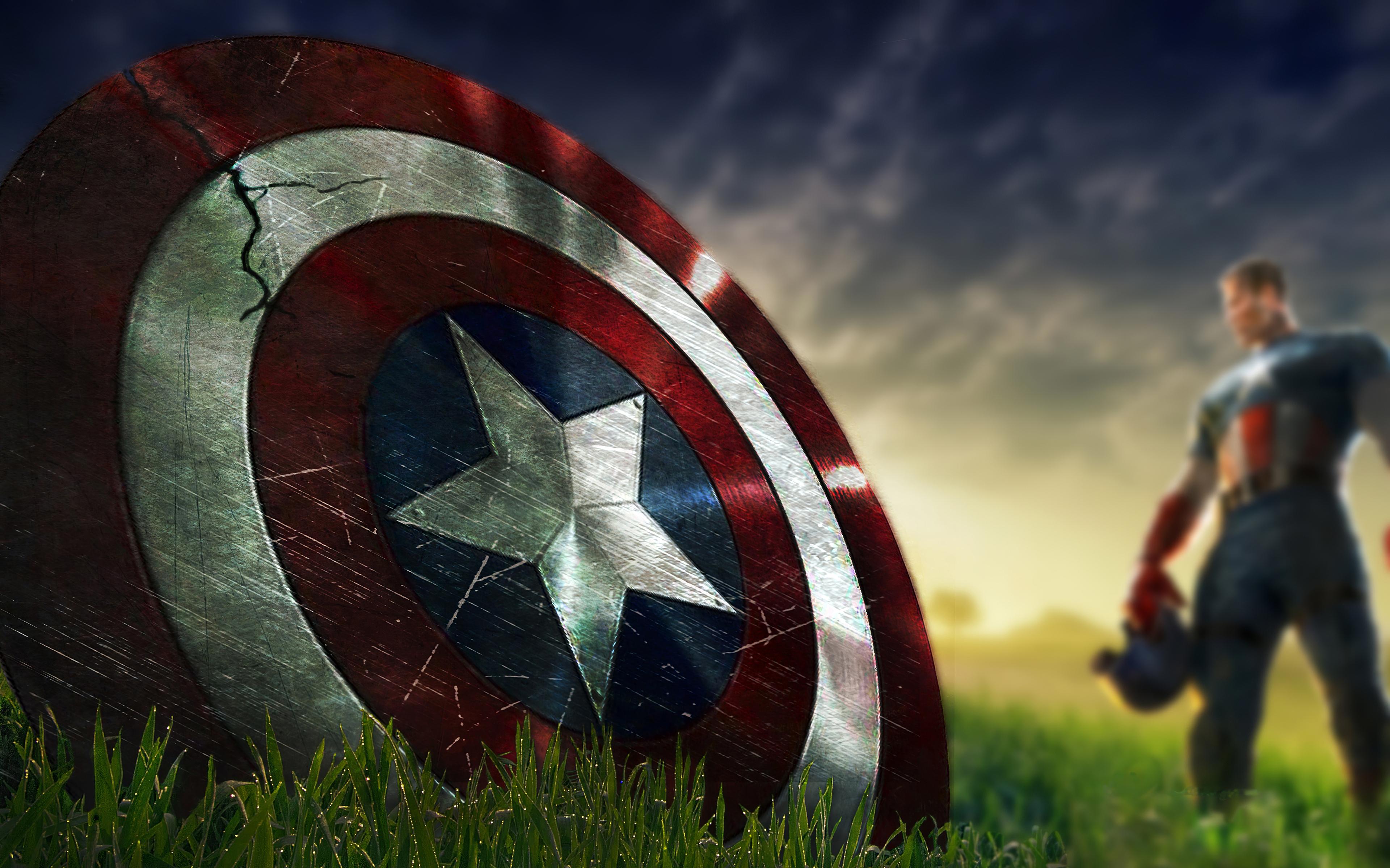 Captain America Shield Marvel Comics 3840x2400