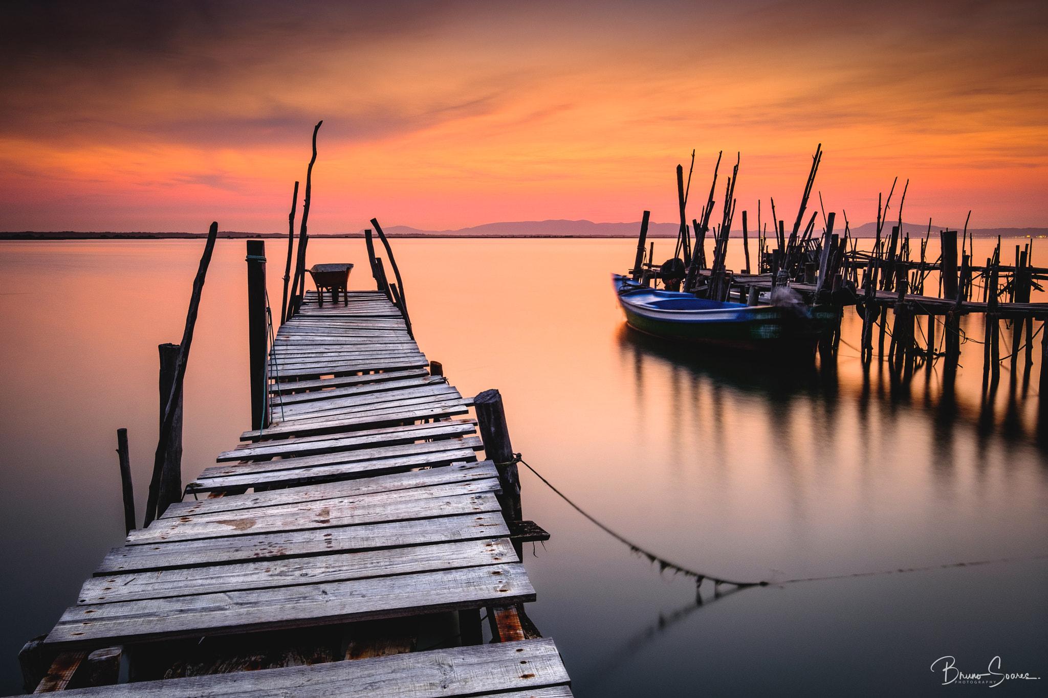 Bruno Soares Landscape Sunset Horizon Sky Colorful Pier Wooden Surface Water Boat Dock 2048x1365