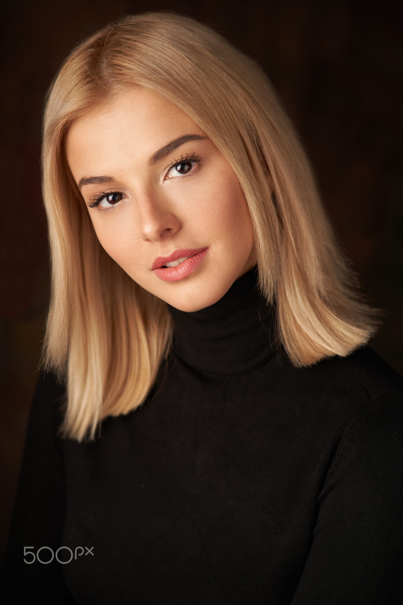 Alexander Vinogradov Women Blonde Shoulder Length Hair Straight Hair Makeup Dark Eyes Looking At Vie 1366x2048