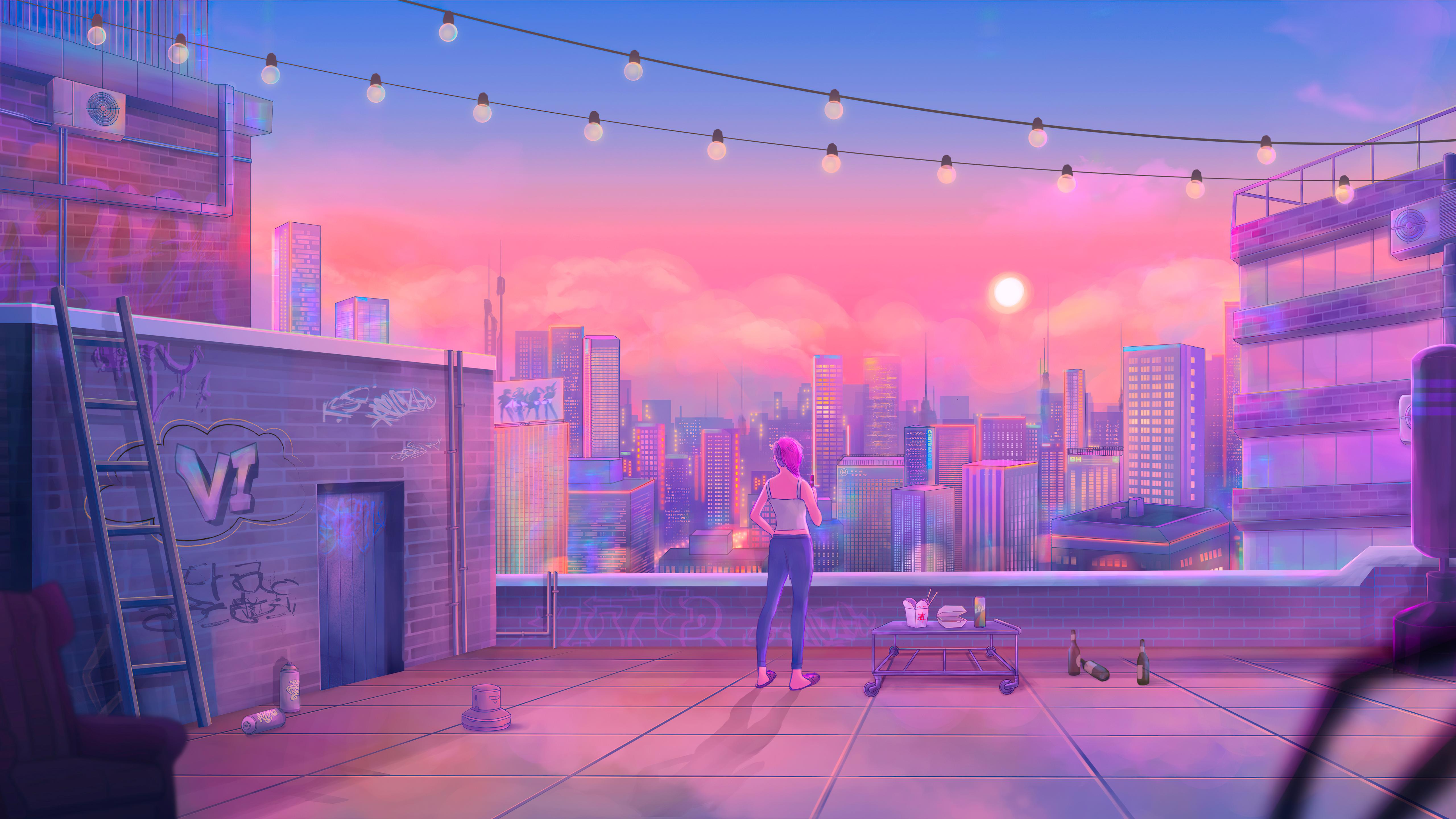 Artistic City 5120x2880