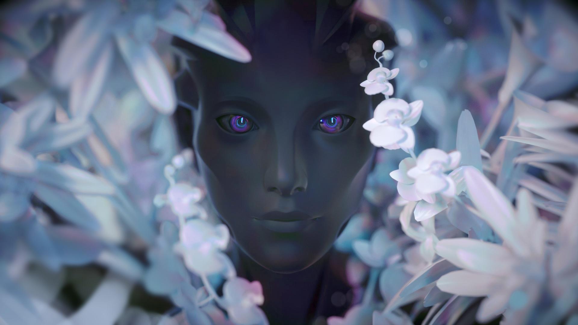 Purple Eyes Flower 1920x1080