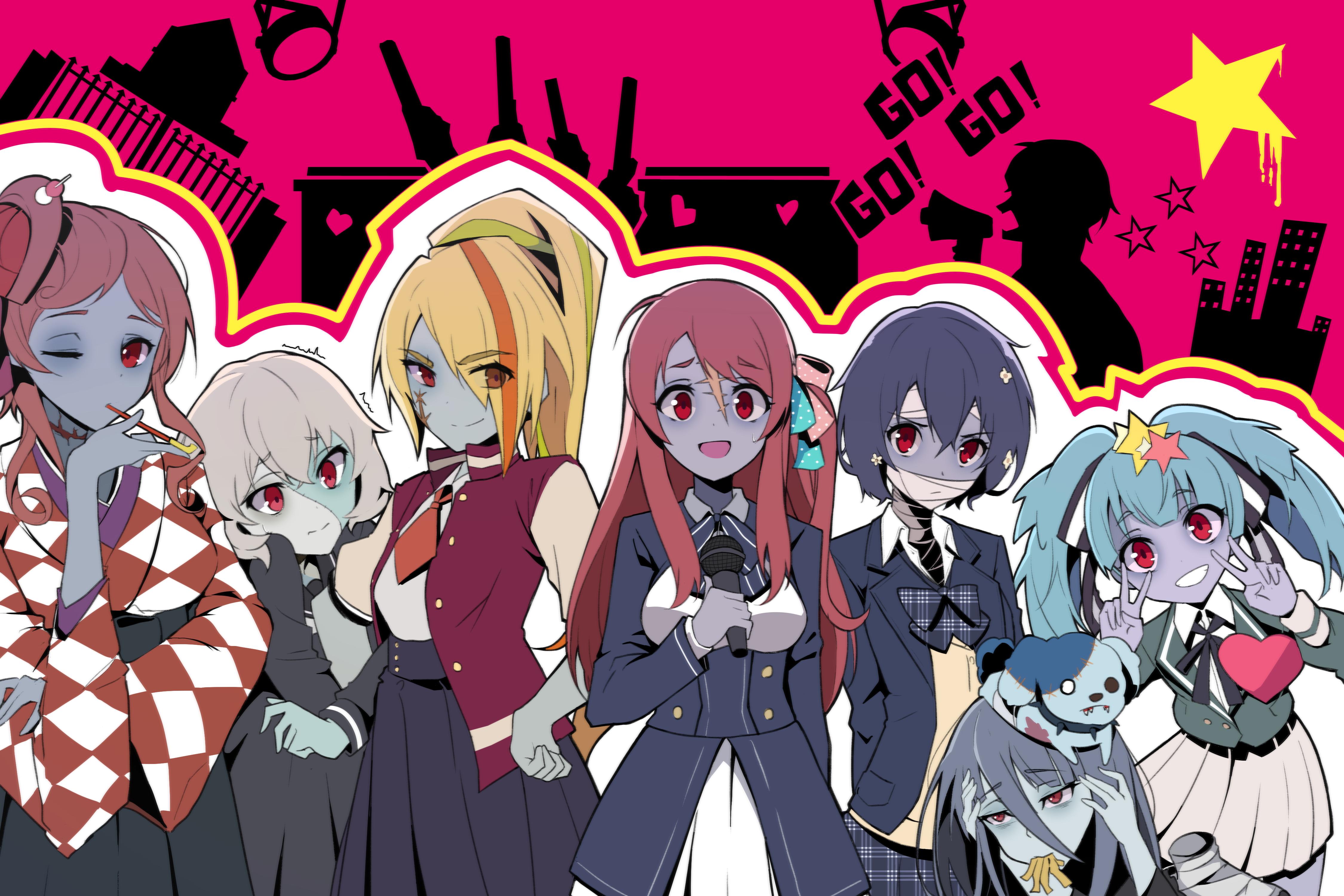 Zombieland Saga Anime Girls Zombie 0 Tae Yamada Zombie 1 Sakura Minamoto Zombie 2 Saki Nikaidou Zomb 4500x3000
