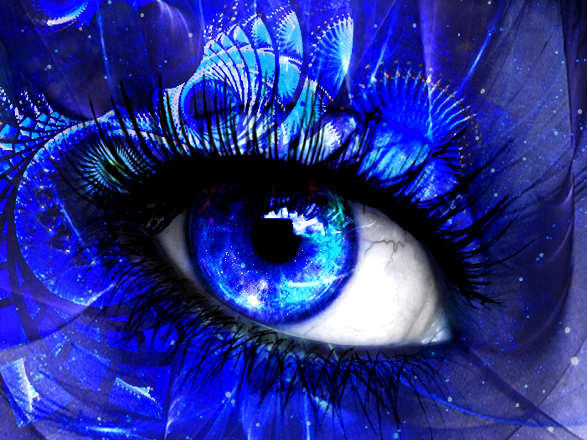 Artistic Eye Blue Makeup Wallpaper Resolution 2048x1536 Id 157694 Wallha Com