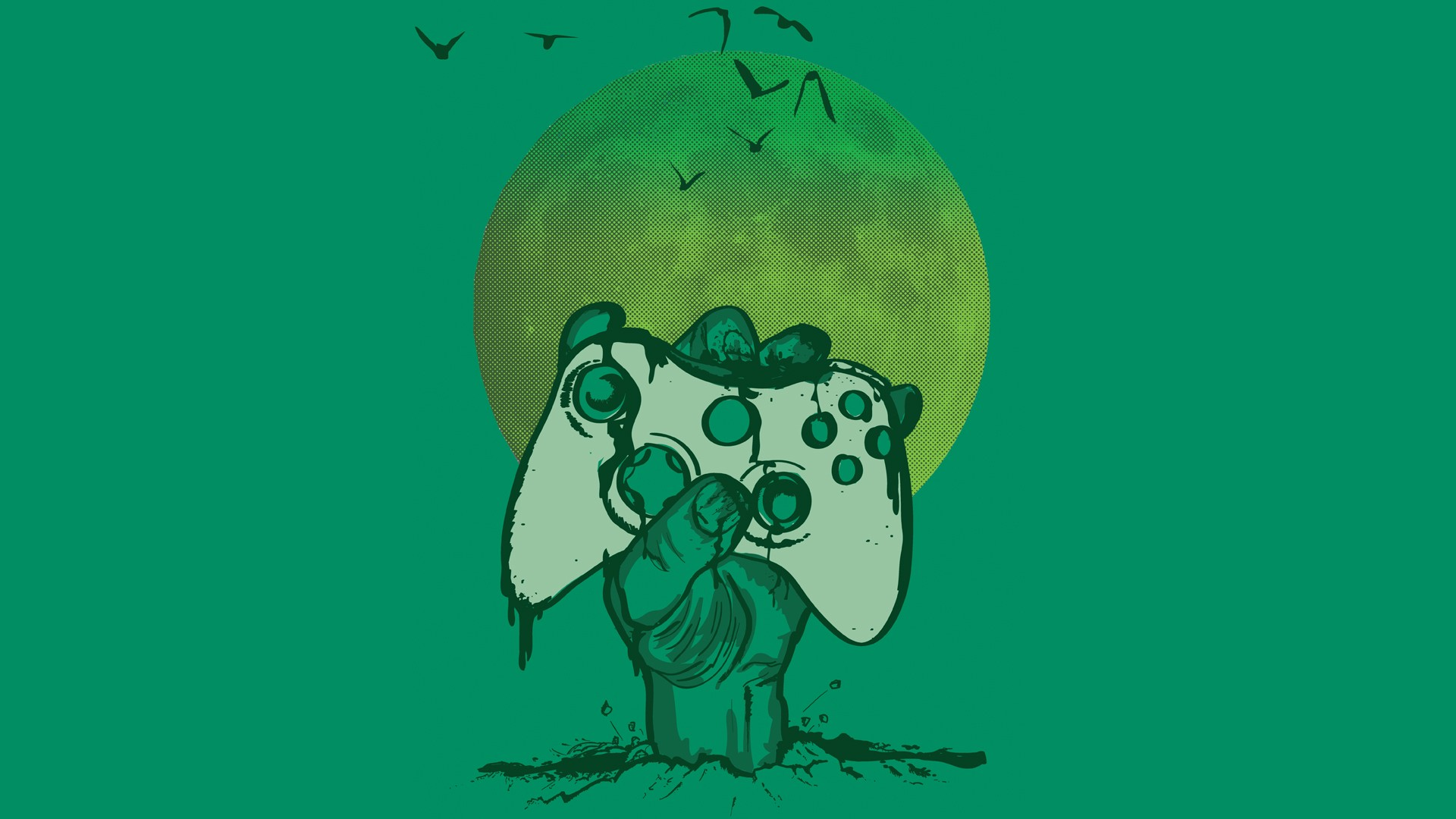 Xbox 360 Video Games Controllers Xbox Green Green Background Wallpaper Resolution 1920x1080 Id 145884 Wallha Com
