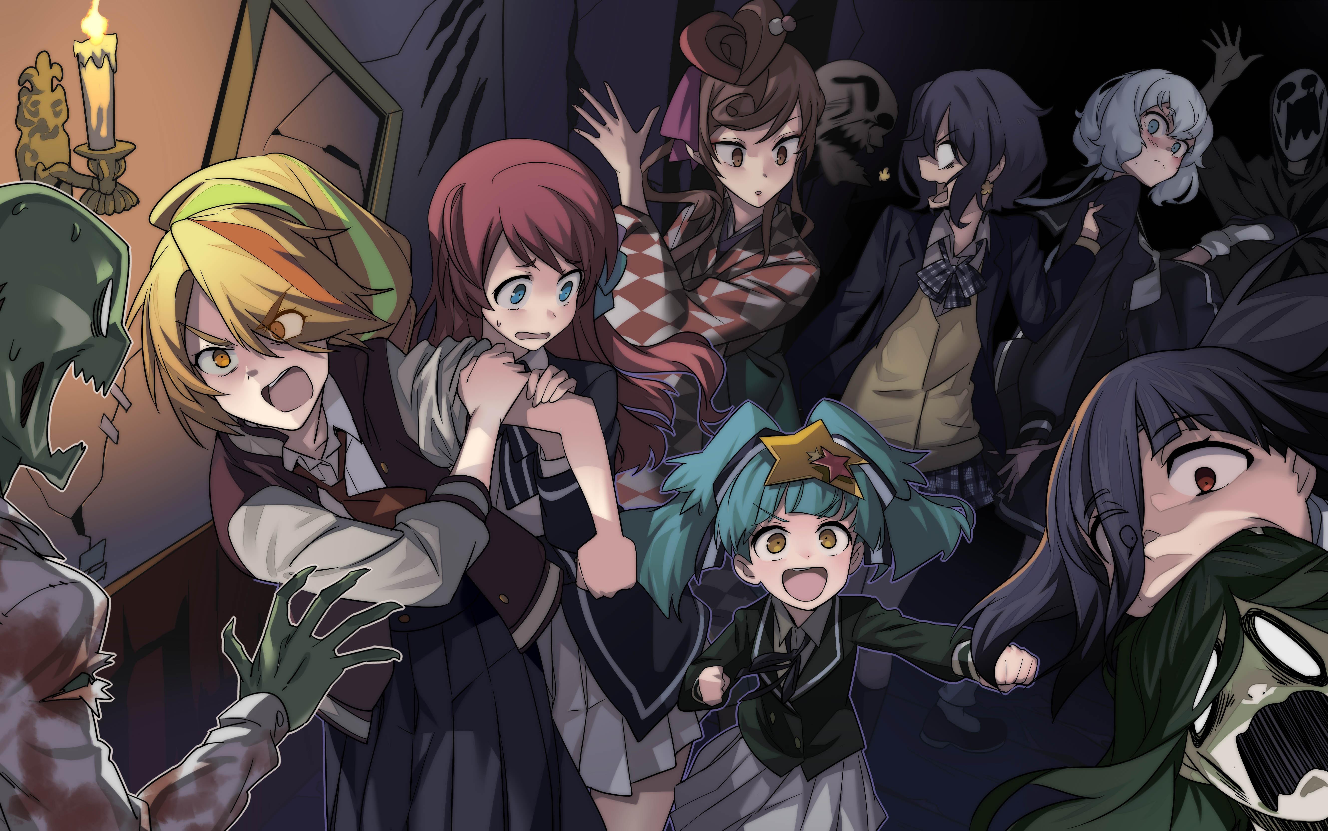 Zombieland Saga Anime Girls Zombies Zombie 2 Saki Nikaidou Zombie 4 Junko Konno Zombie 6 Lily Hoshik 5319x3328