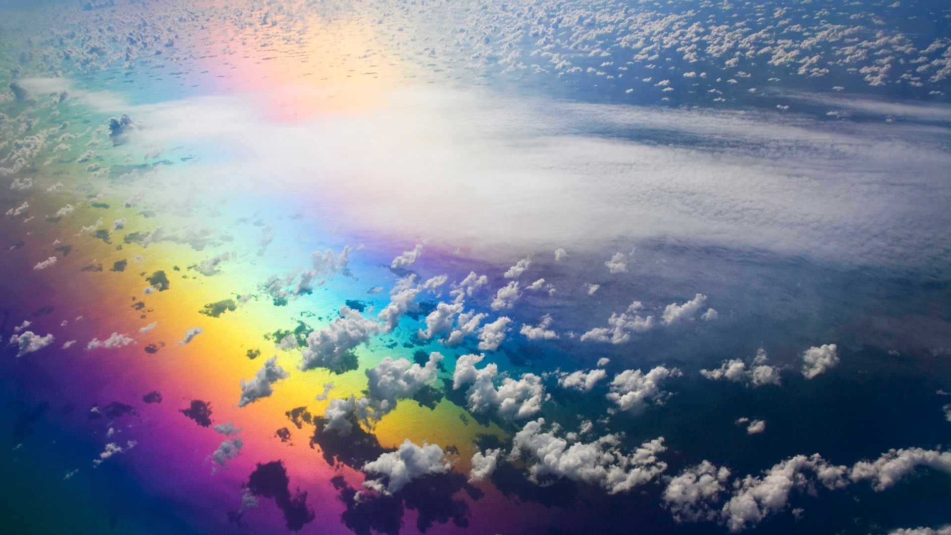 Artistic Sky Colors Colorful Cloud Rainbow 1920x1080