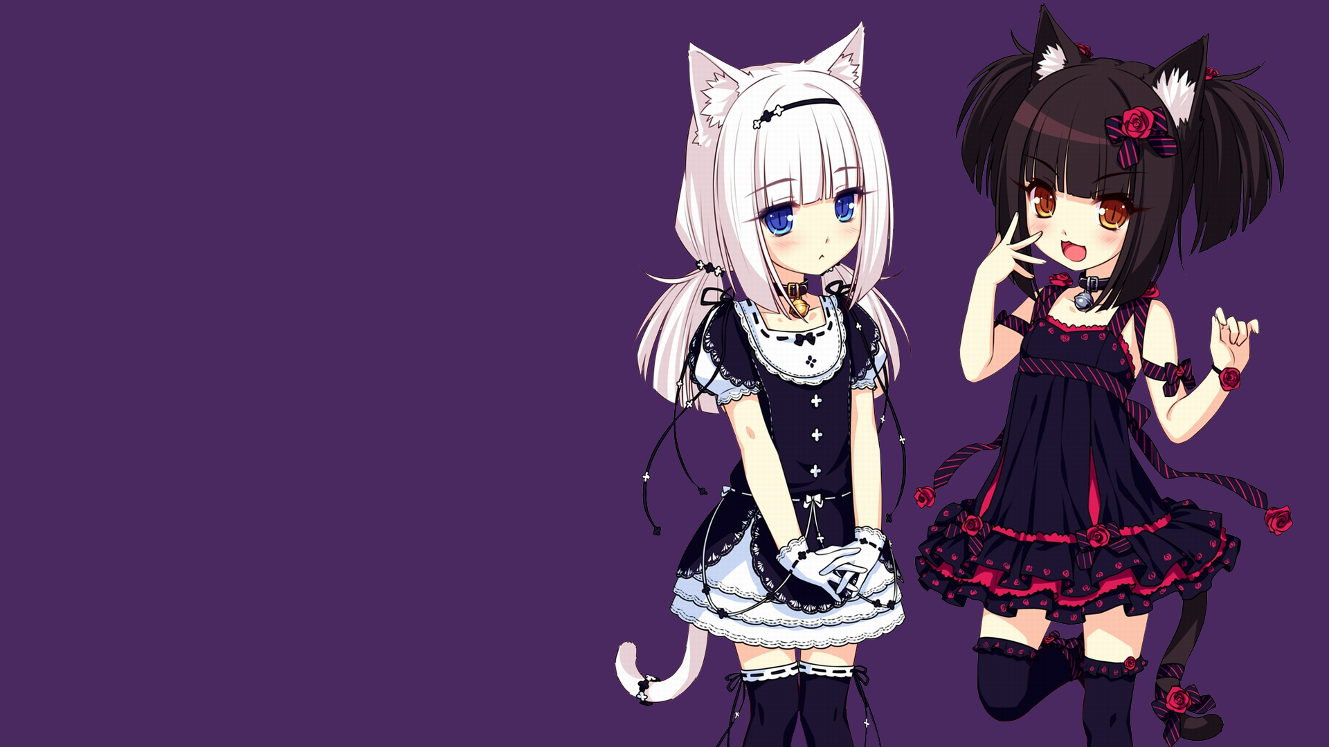 Neko Para Vanilla Neko Para Chocolat Neko Para Anime Girls Wallpaper Resolution 1920x1080 Id 108473 Wallha Com